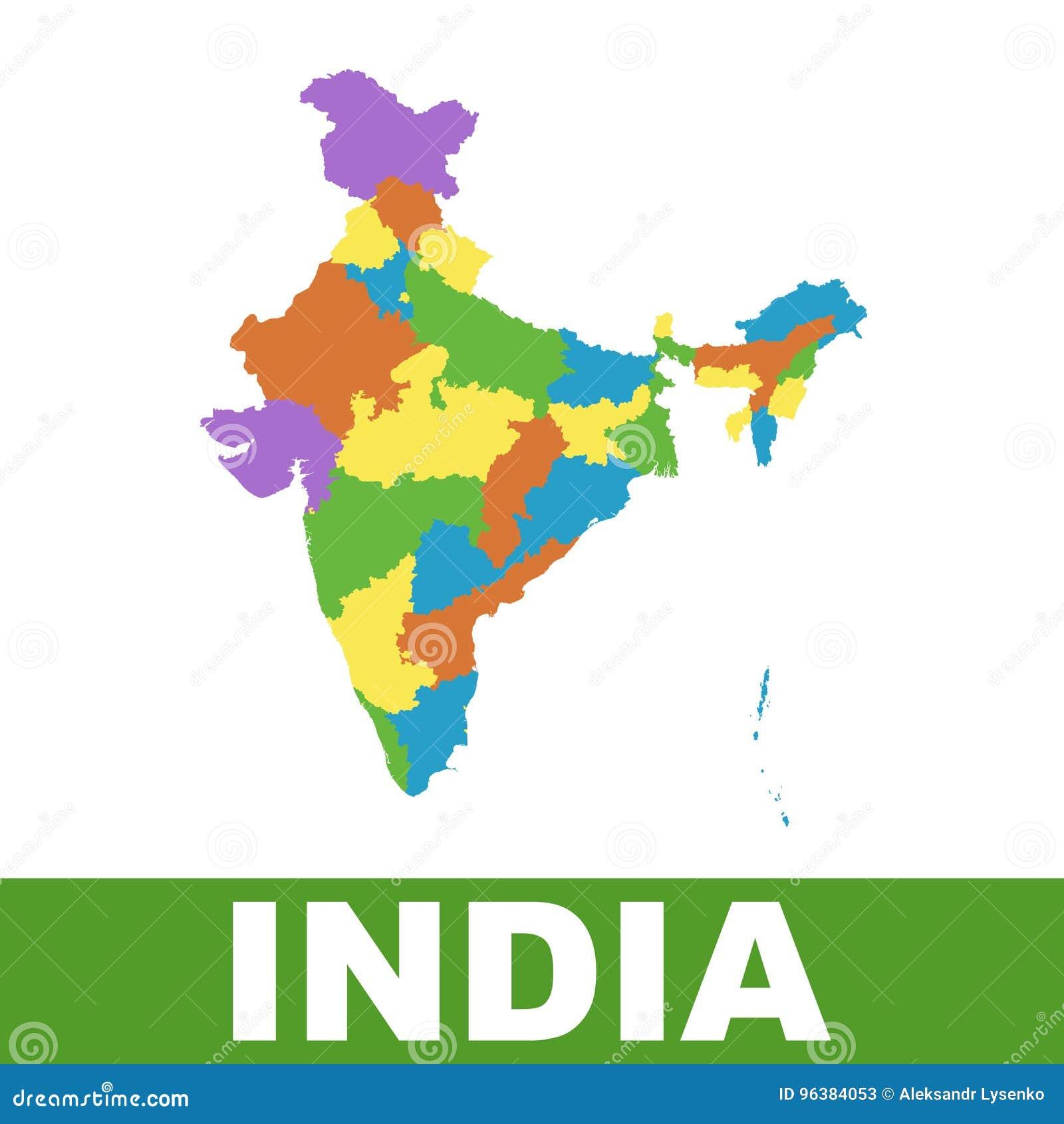 印度地图以联邦政府 平的传染媒介