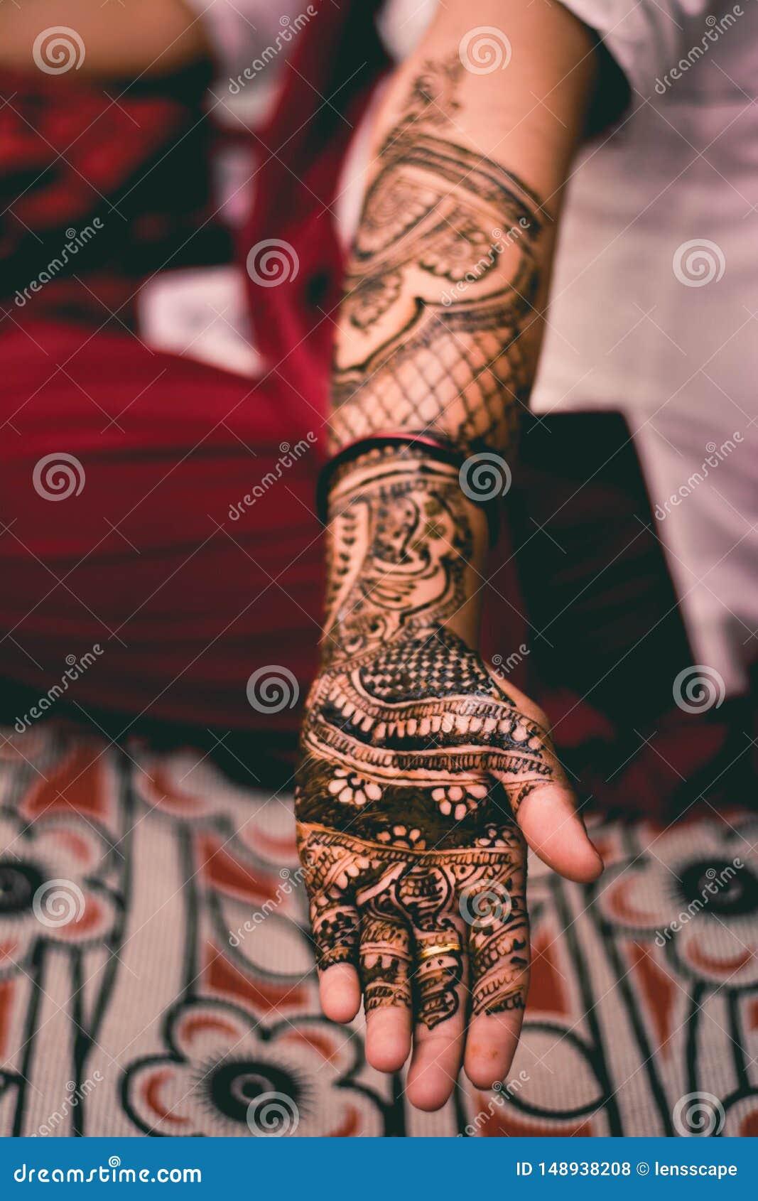 印度女孩无刺指甲花书刊上的图片