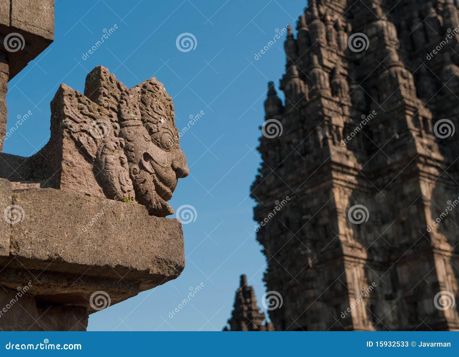 印度尼西亚Java prambanan寺庙