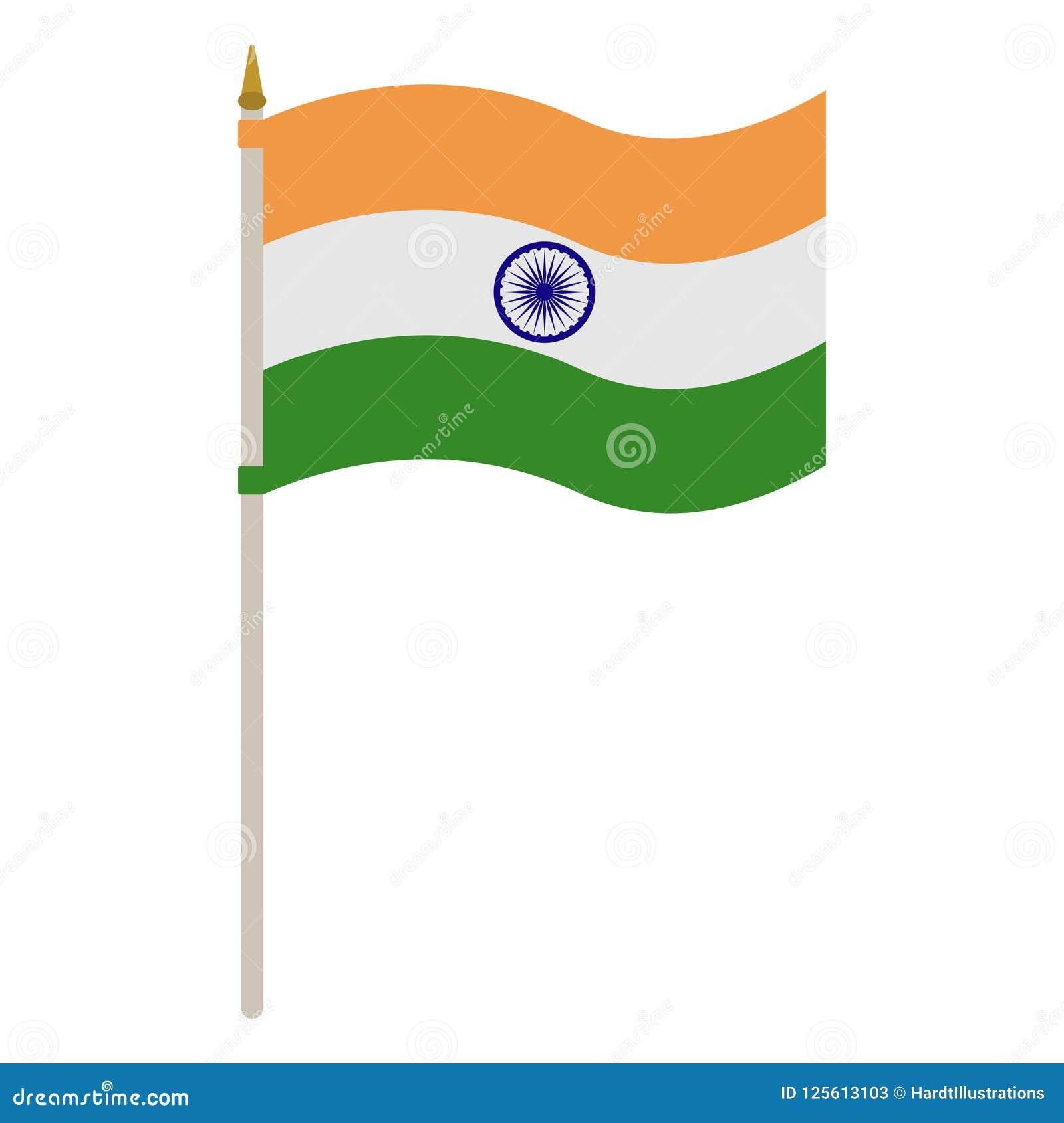 印度的旗子波兰人的