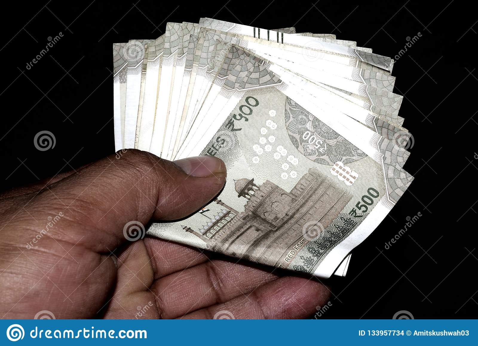 500印度货币笔记