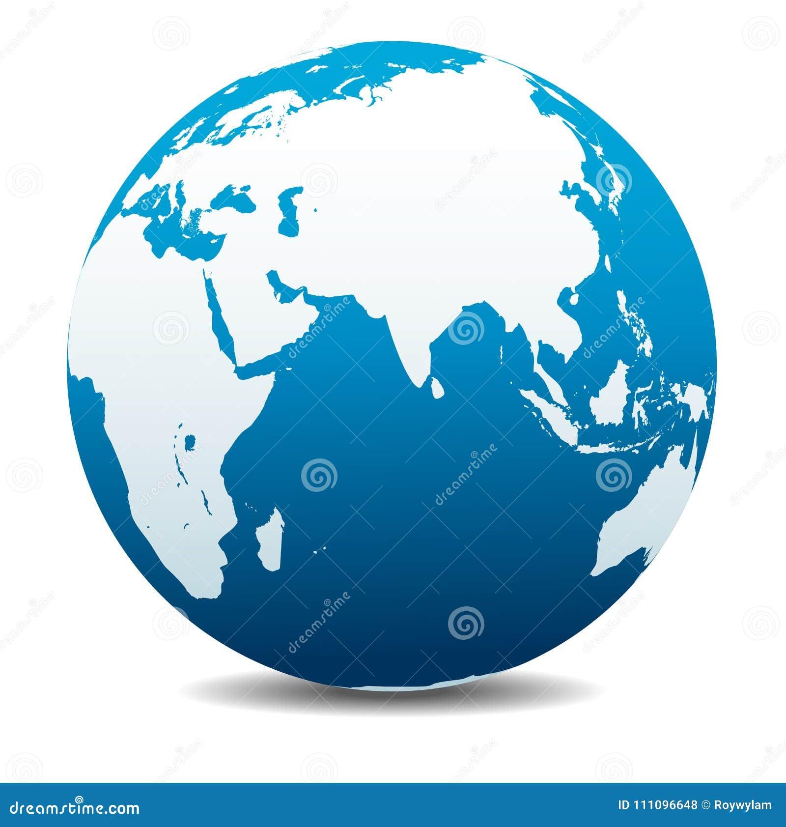 印度,非洲,中国,印度洋,全球性世界行星地球象