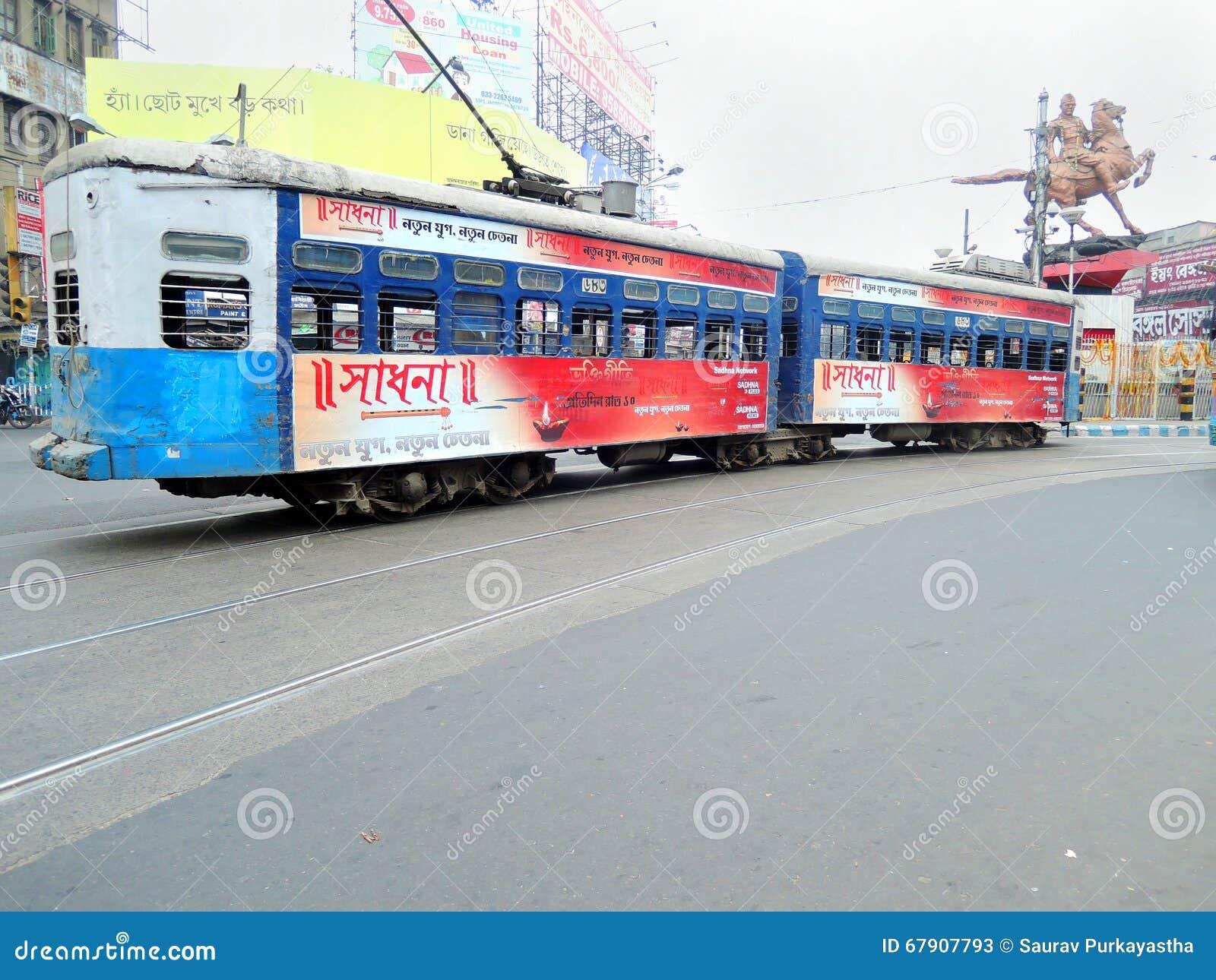 印度kolkata电车