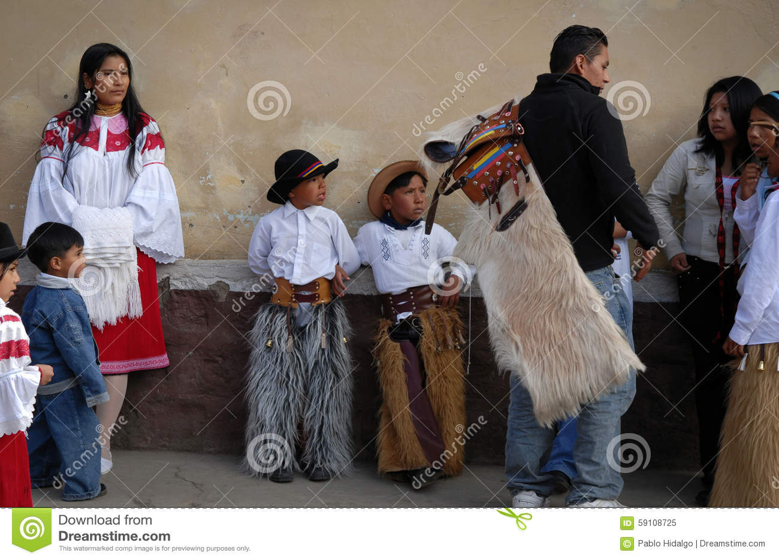 印锑秘鲁货币单位Raymi celebation在Tabacundo,厄瓜多尔