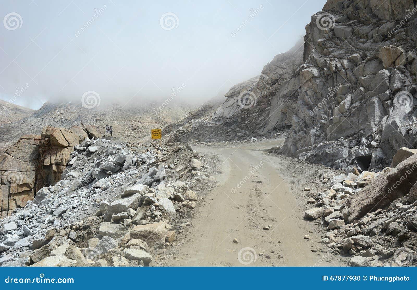 危险路在拉达克,印度