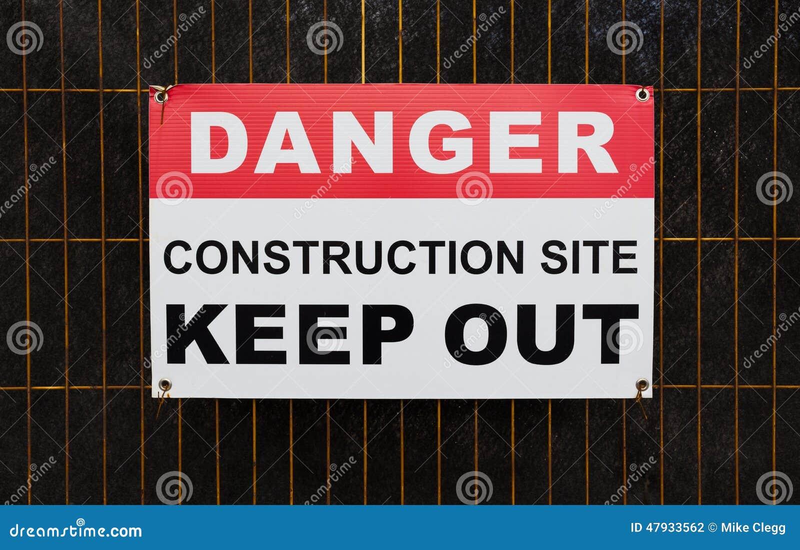 危险建造场所把标志关在外面