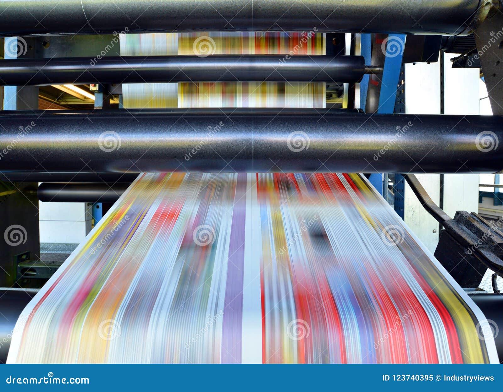 卷垂距印刷品机器在生产的o一家大印刷字体商店