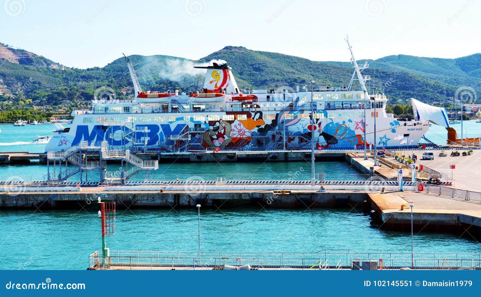 厄尔巴岛海岛,口岸,船,小船,海,在意大利,欧洲