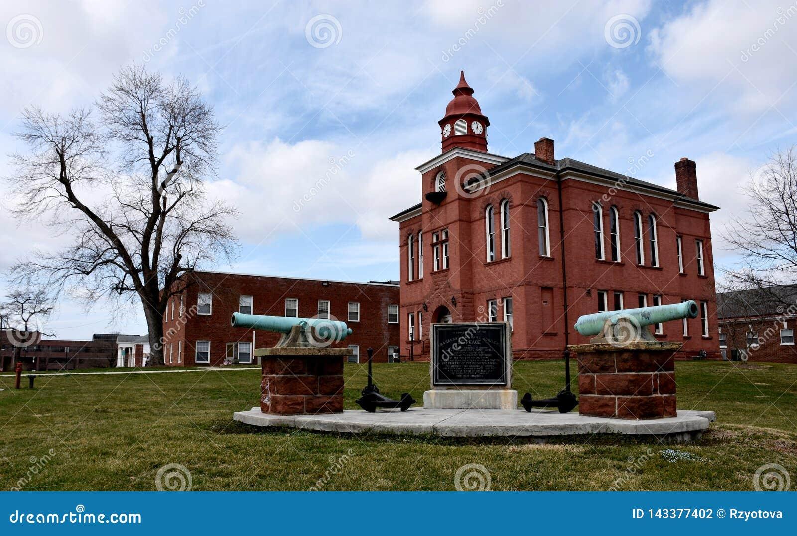 历史的奥尔德敦马纳萨斯,威廉王子县法院大楼,弗吉尼亚