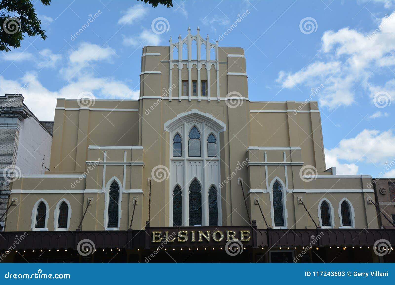 历史的Elsinore剧院在萨利姆,俄勒冈