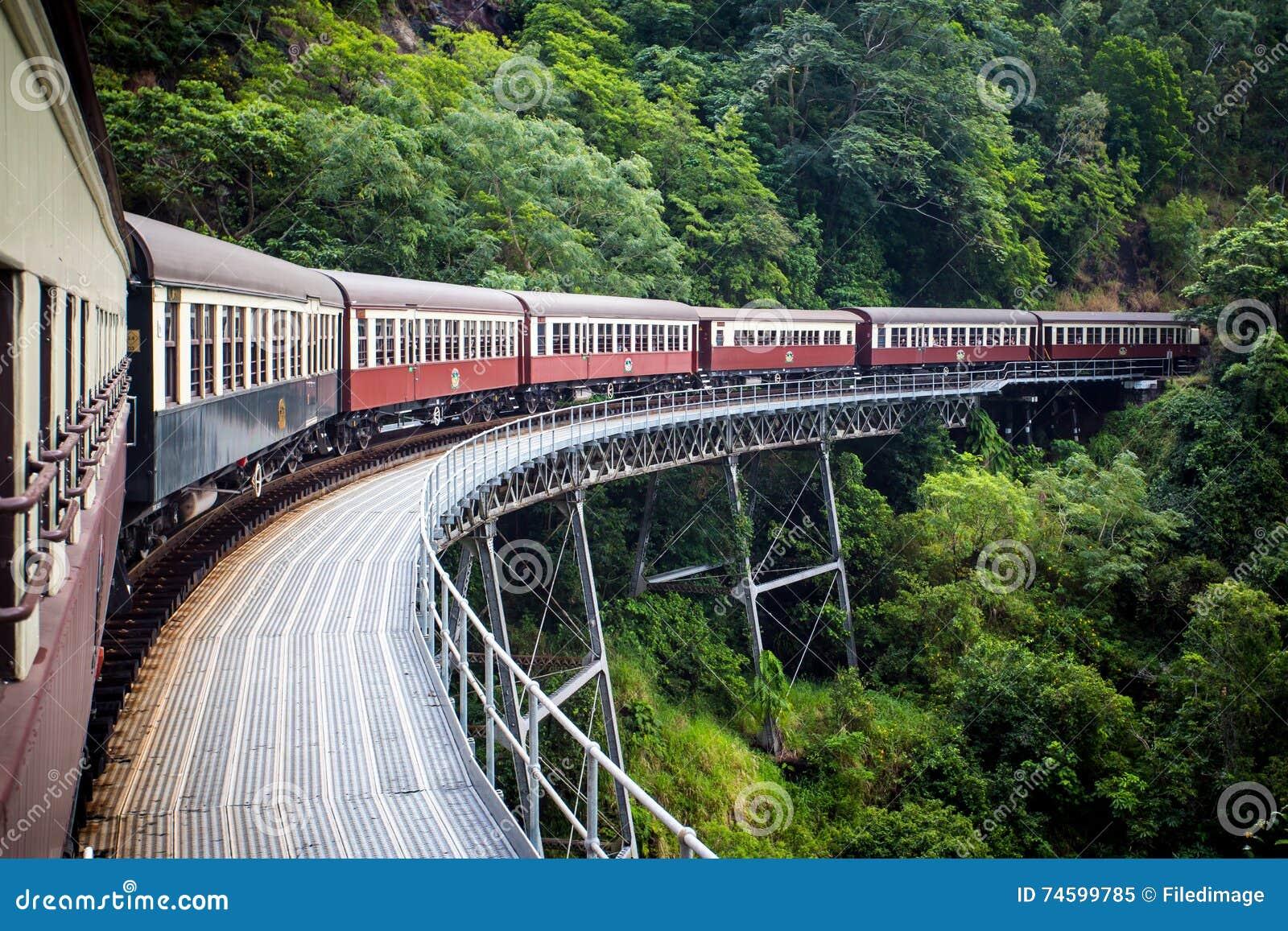 历史的Kuranda盘旋火车