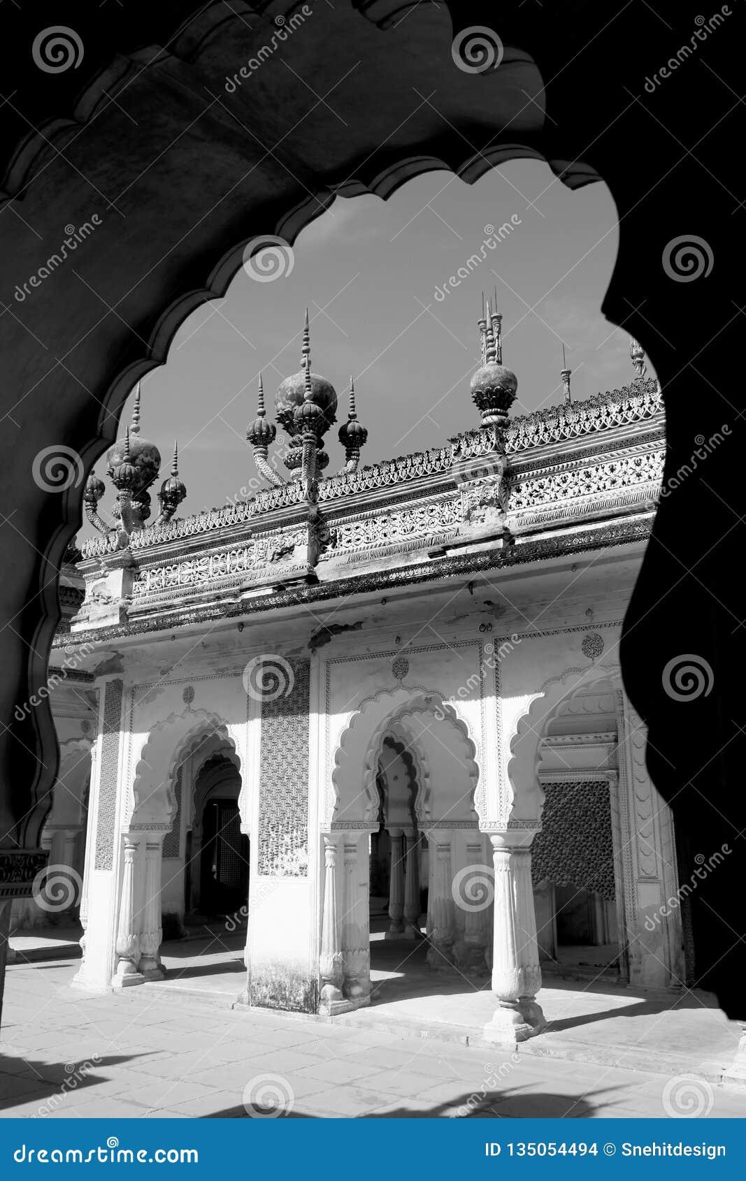 历史的Paigah坟茔在海得拉巴,印度