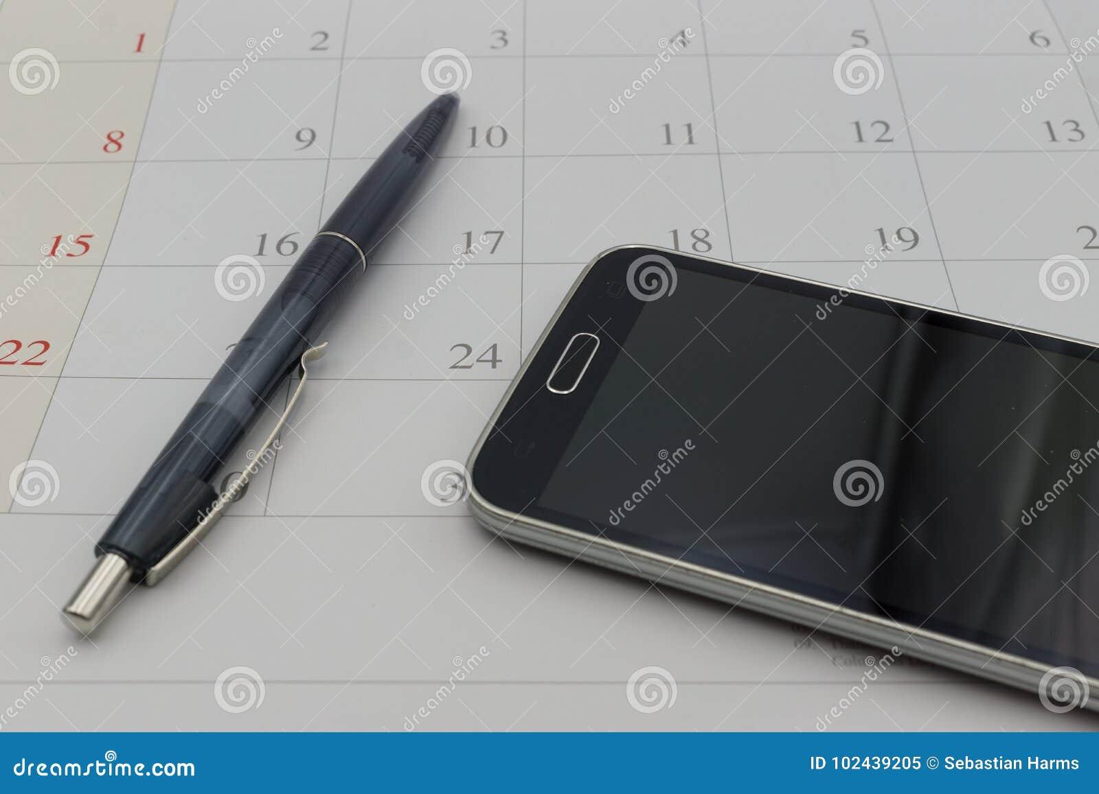 历日和电话在busiess概念