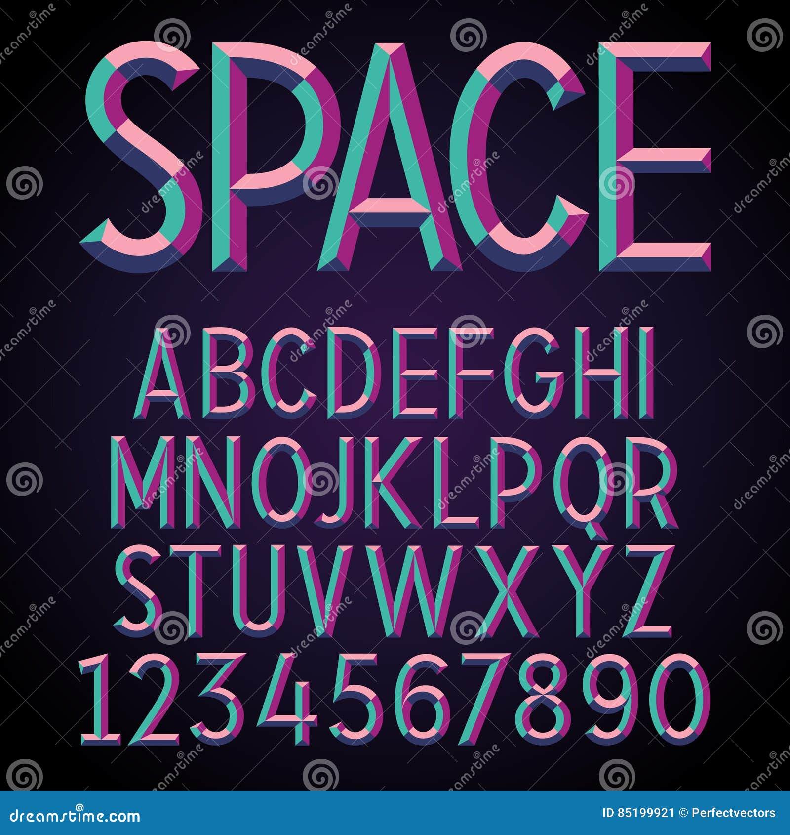 压印的立体声字体