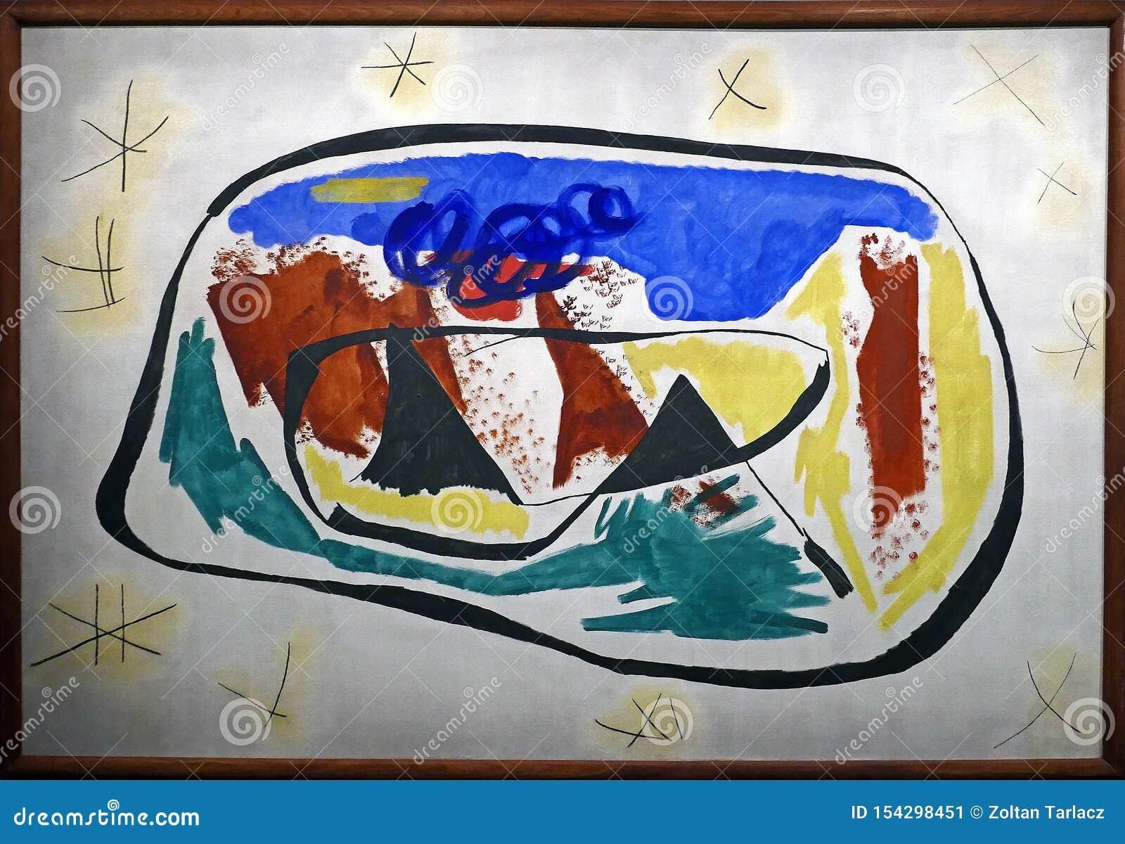 原始的绘画的照片:'绘画'胡安・米罗