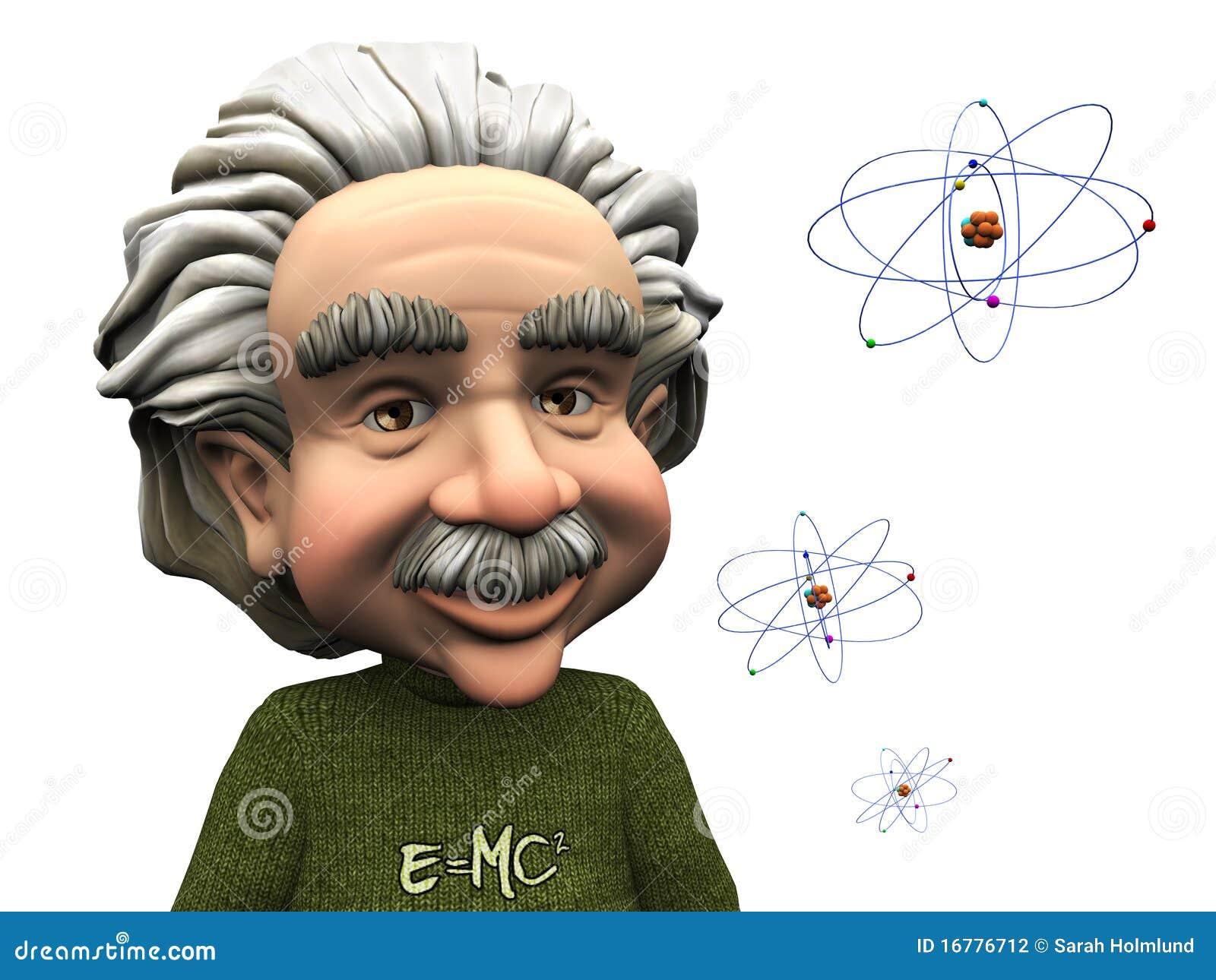 原子动画片爱因斯坦微笑