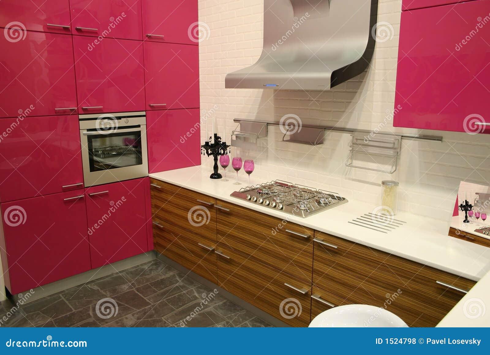 厨房粉红色