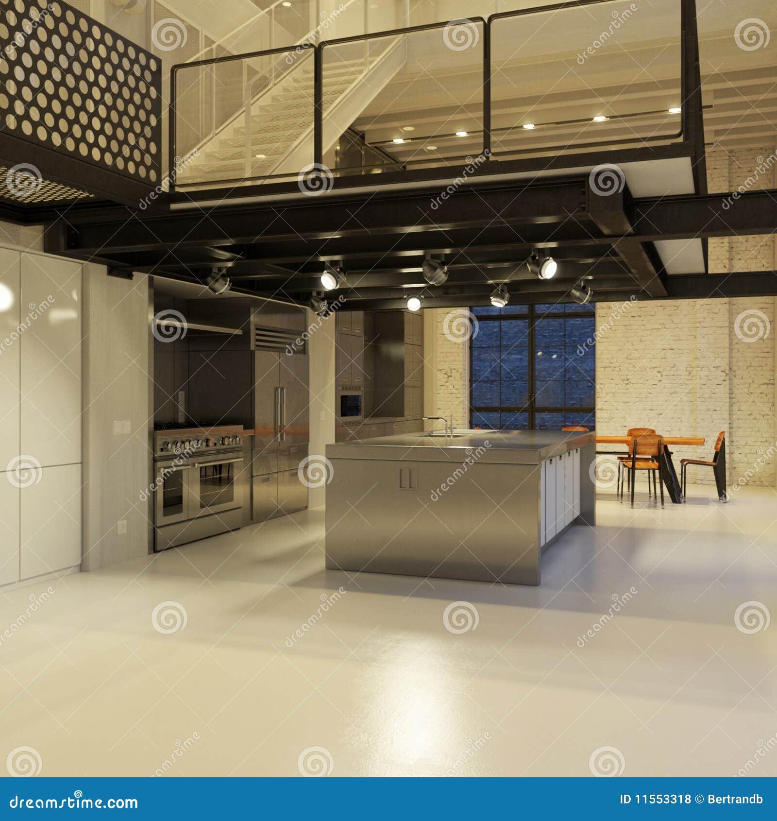 厨房顶楼现代晚上