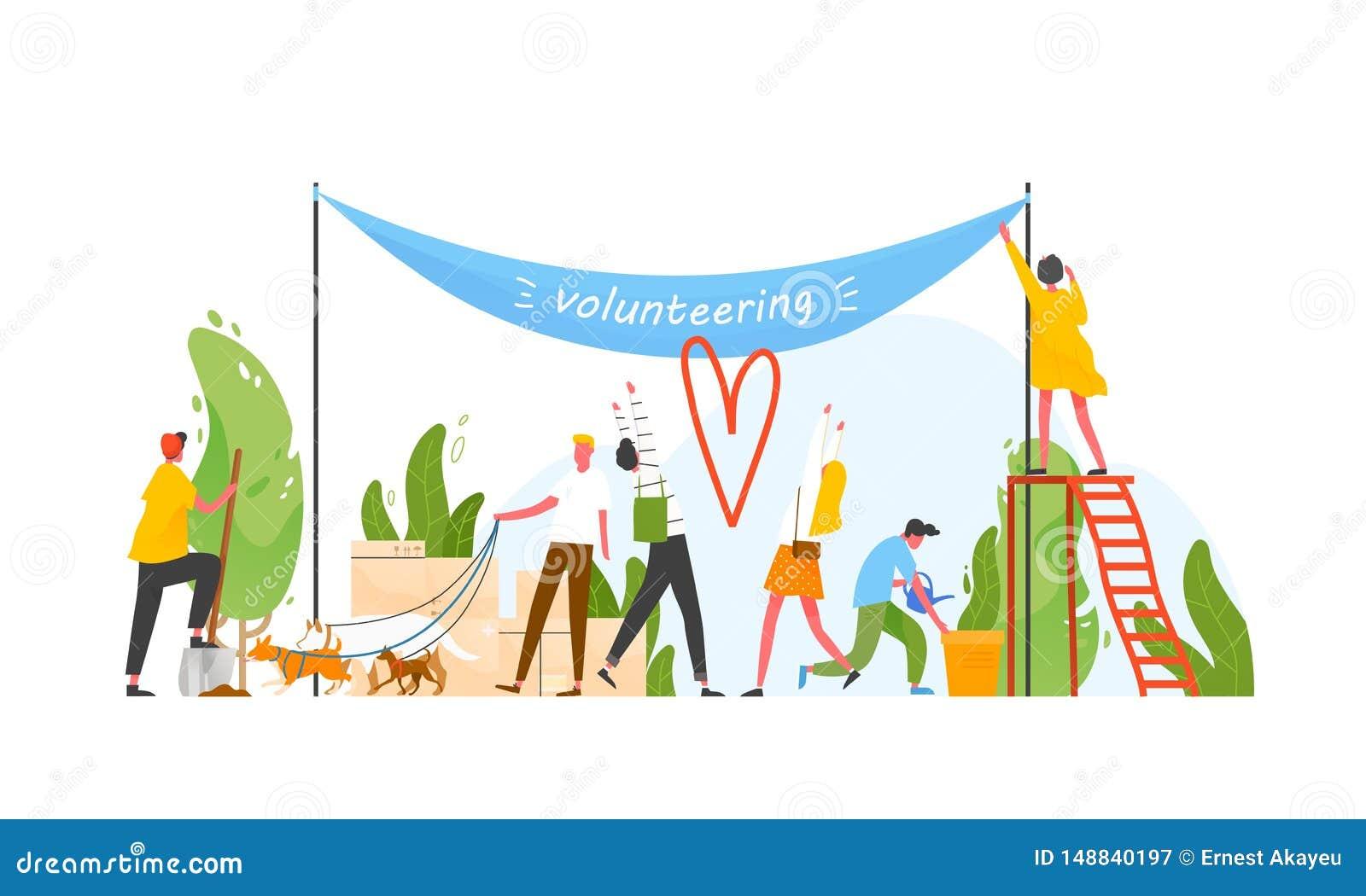 参加志愿组织或运动,志愿或者执行利他的活动的人