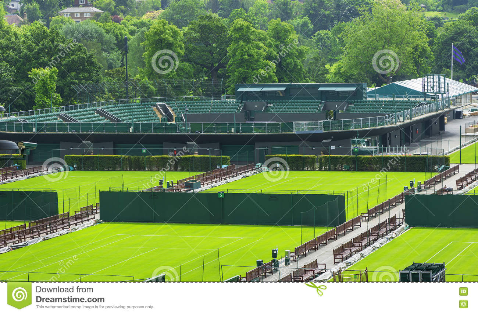 参观的Wimbledon法院