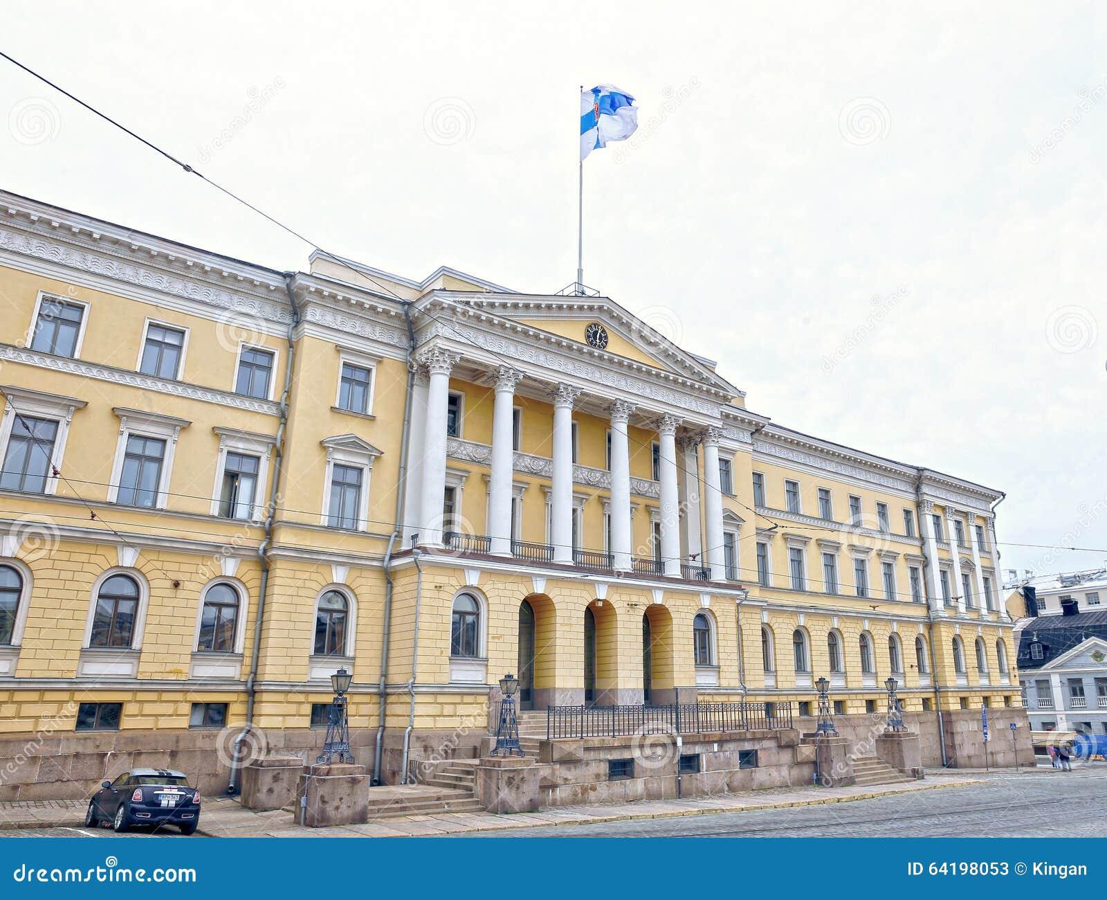 参议院大厦(芬兰的政府的宫殿)