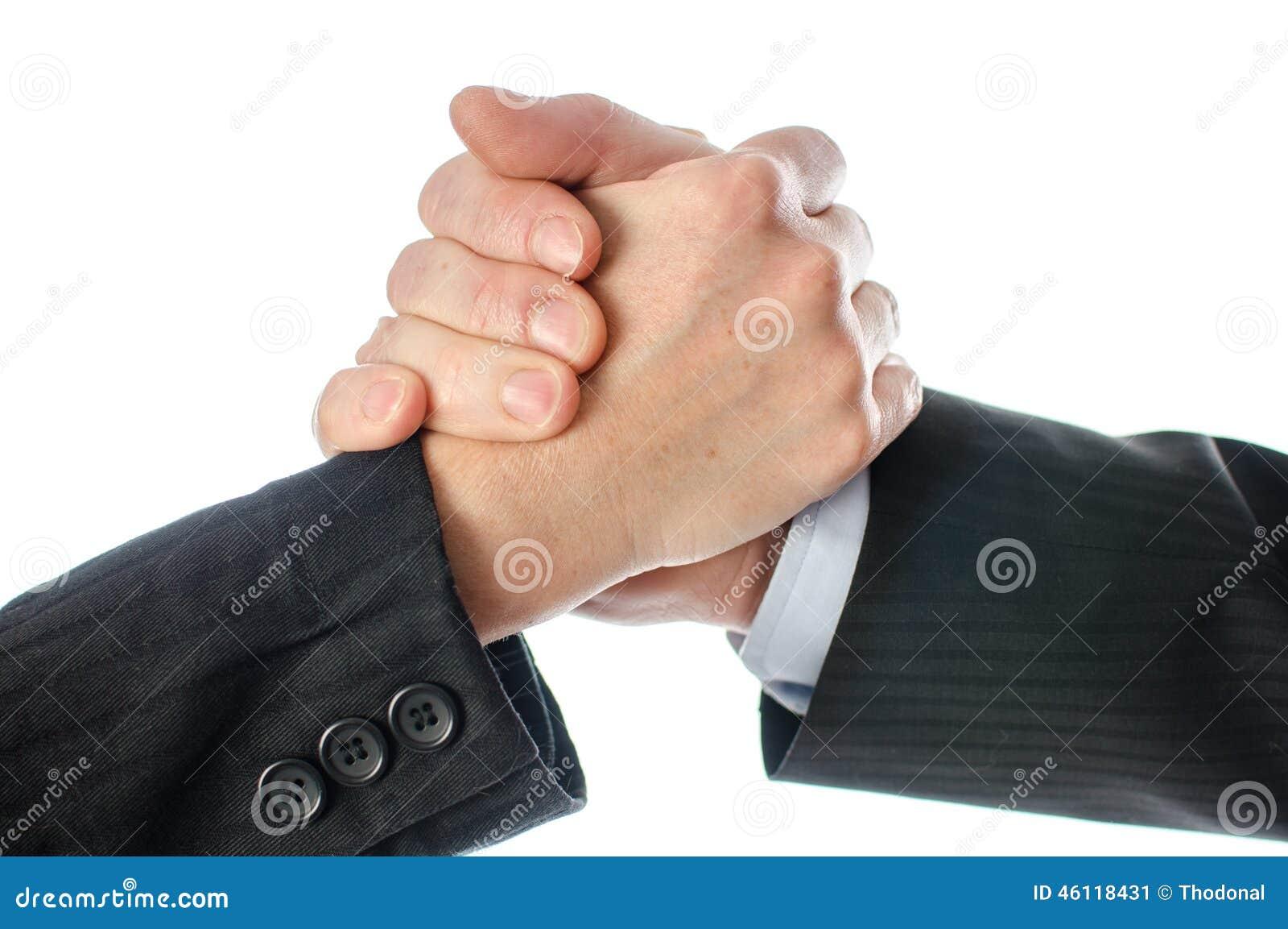 友好的企业握手