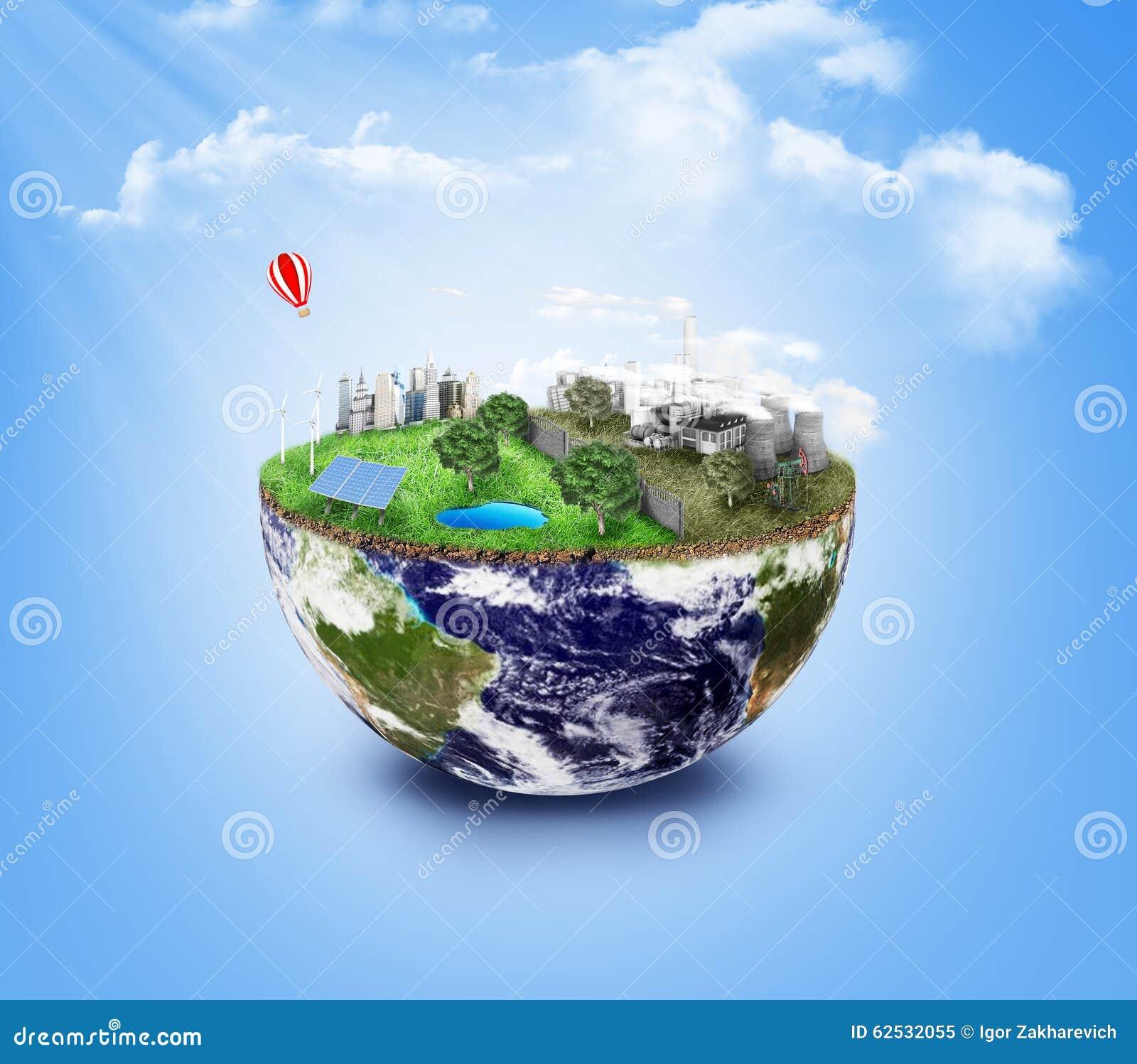 友好的Eco,绿色能量概念