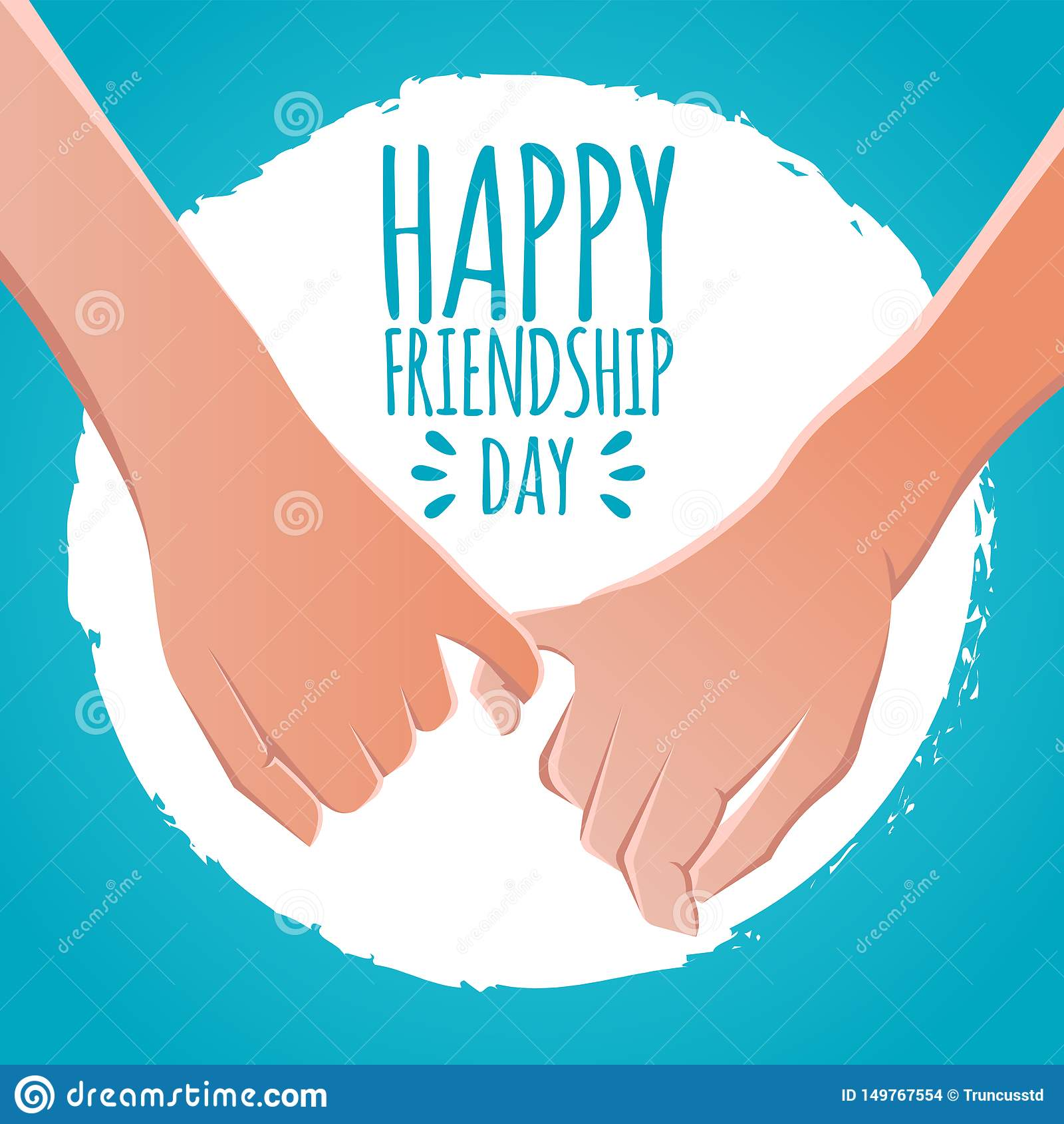 友谊天概念 手指诺言,带淡红色的诺言股票传染媒介例证 贺卡设计为愉快的友谊天
