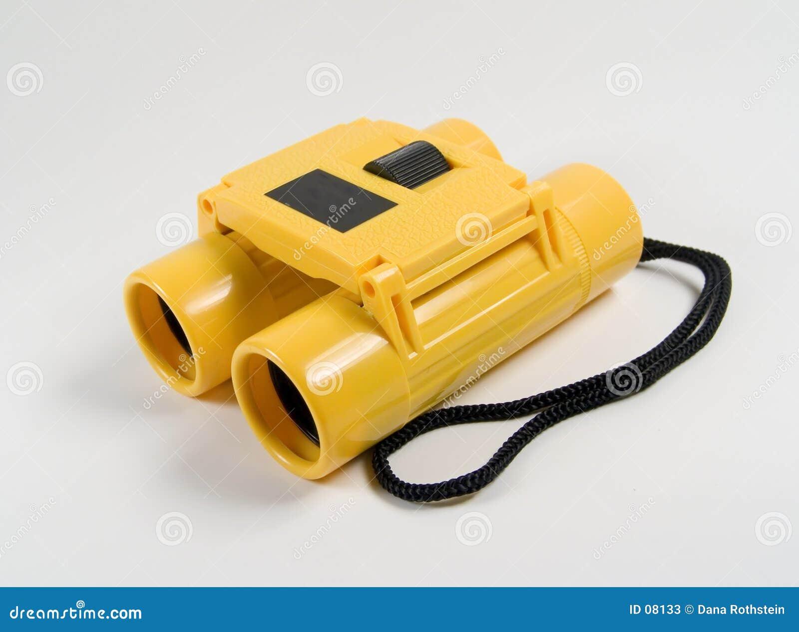 双筒望远镜黄色