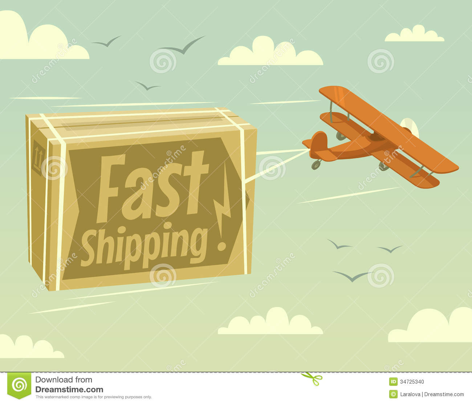 双翼飞机和快速的运输