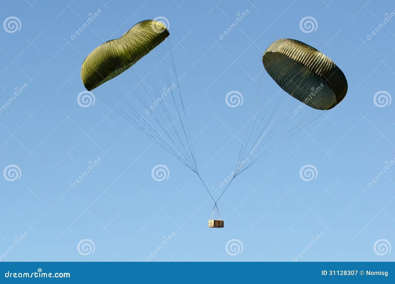 双降伞箱子下落