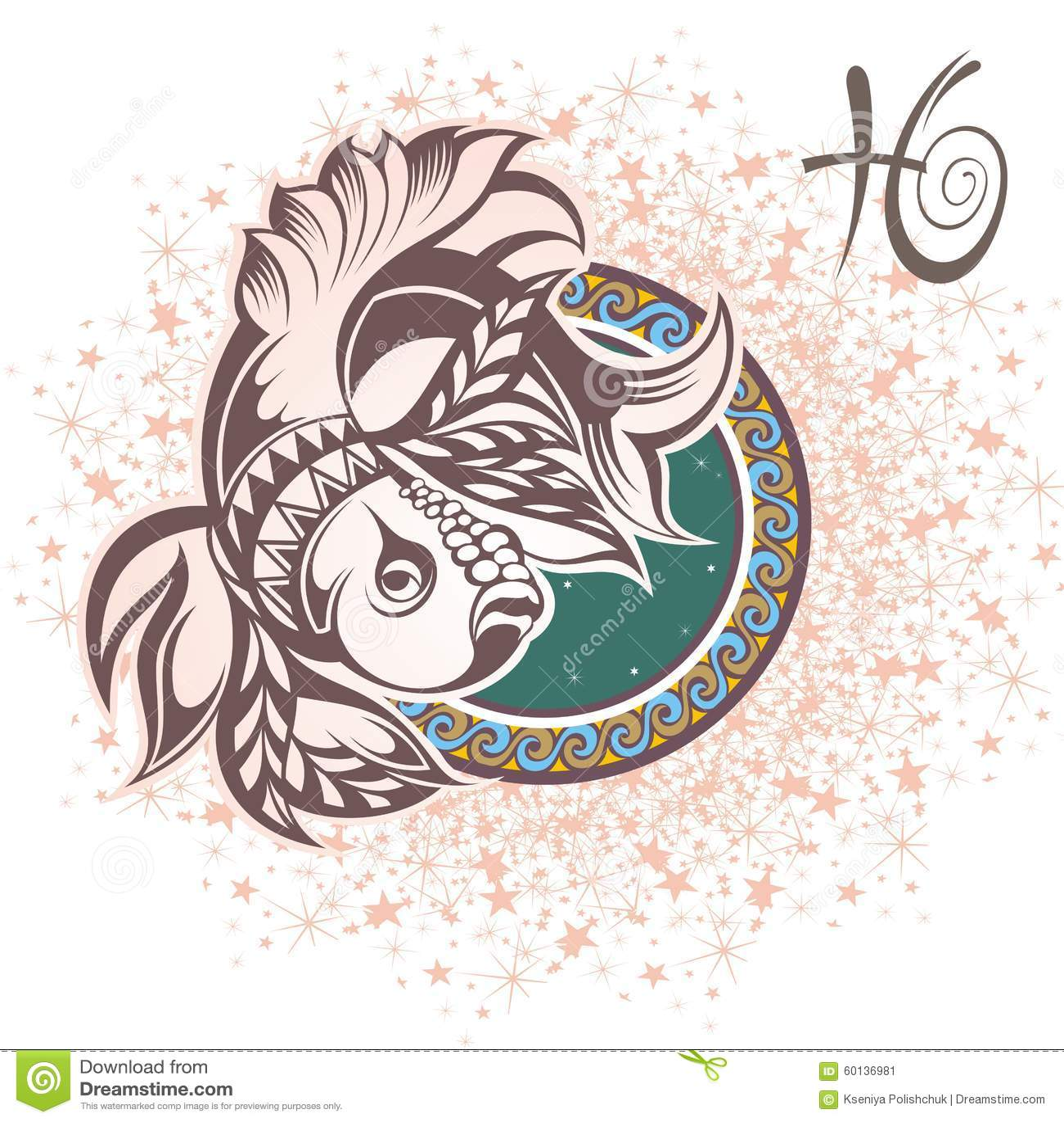 双鱼座 艺术品设计符号符号十二多种黄道带