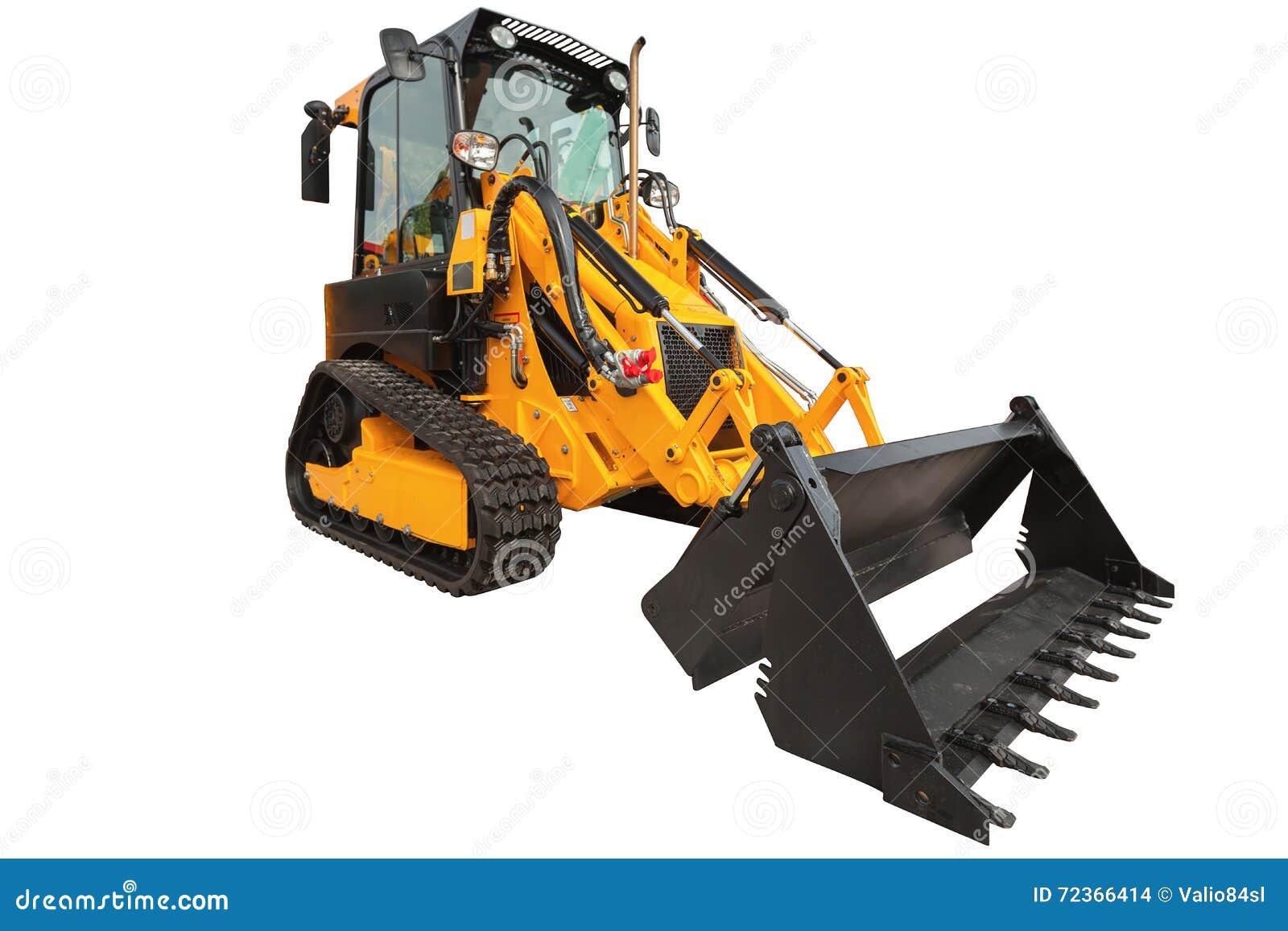 反向铲装载者或推土机-有裁减路线isola的挖掘机
