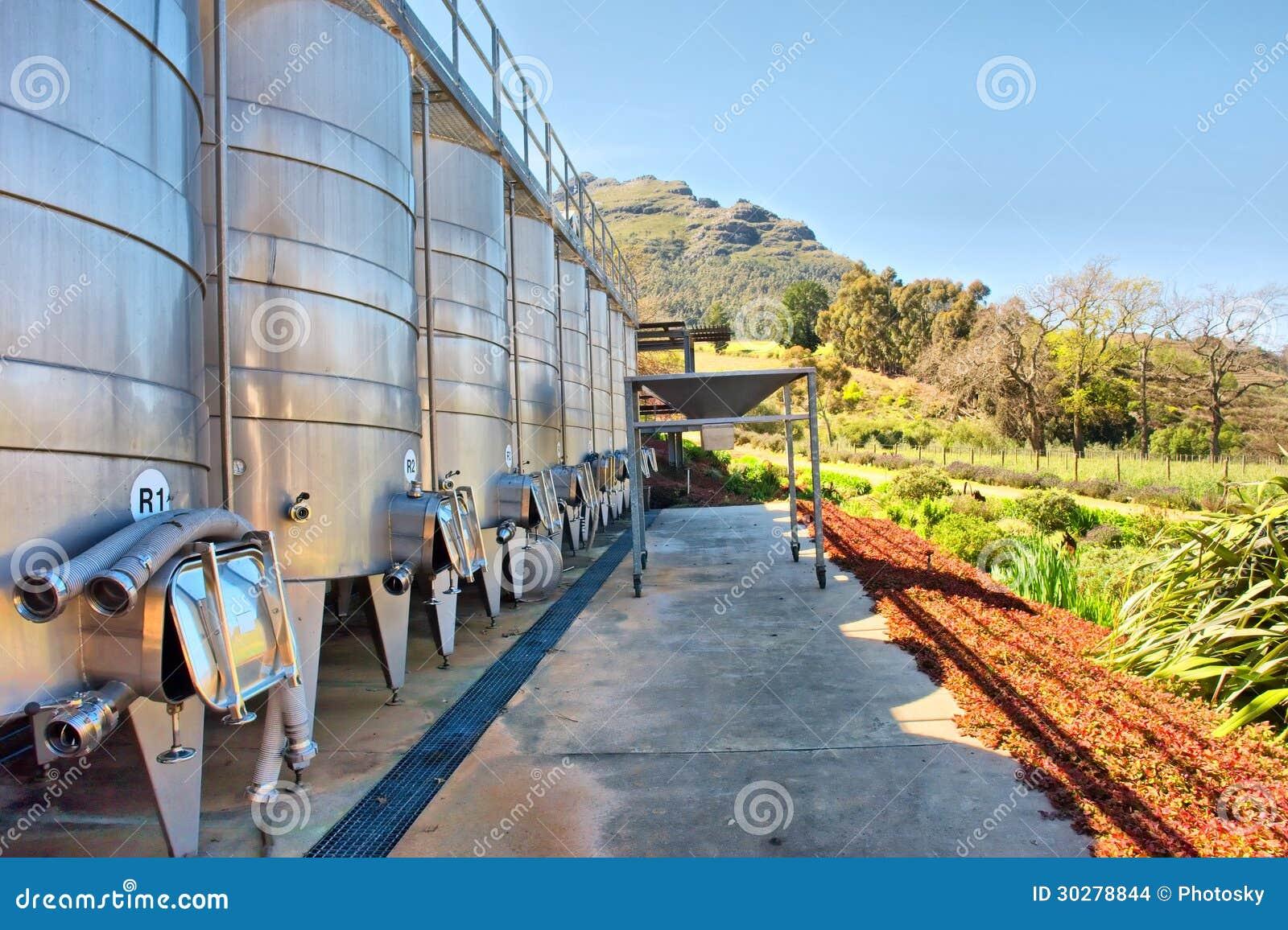 酒反对山的酿造设备