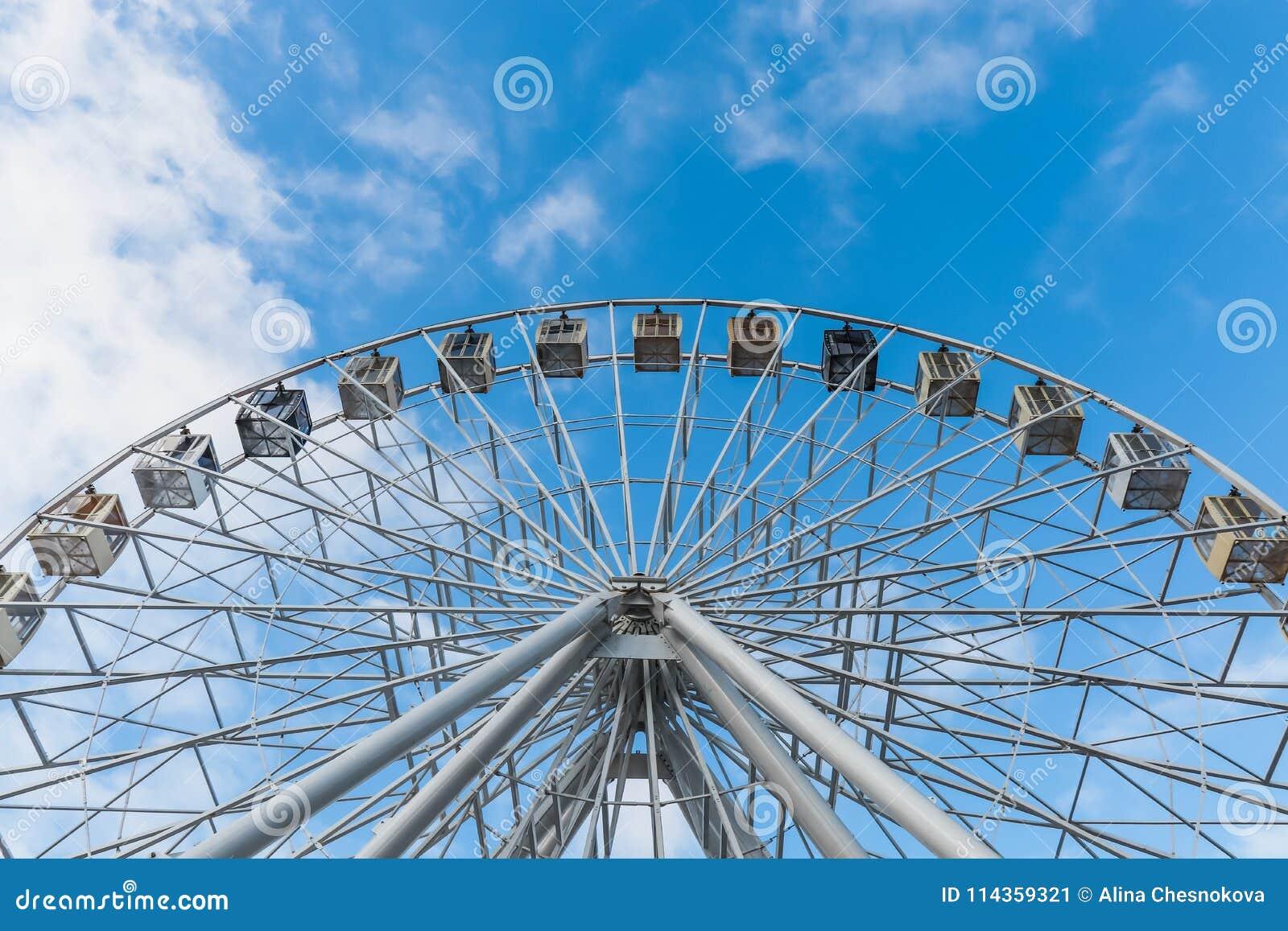 反对蓝天的弗累斯大转轮作为背景