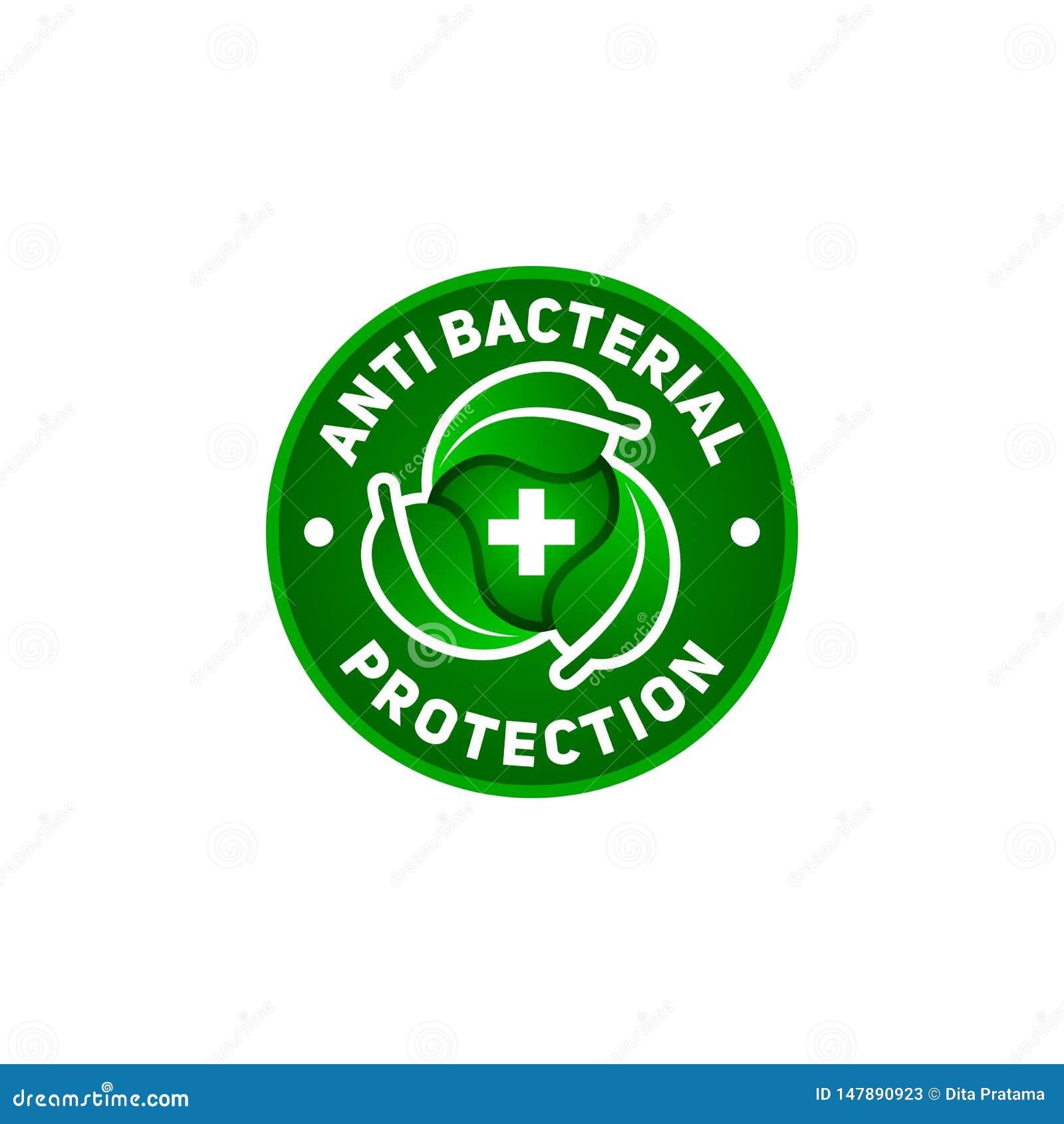 反细菌保护标志,您的保健品的
