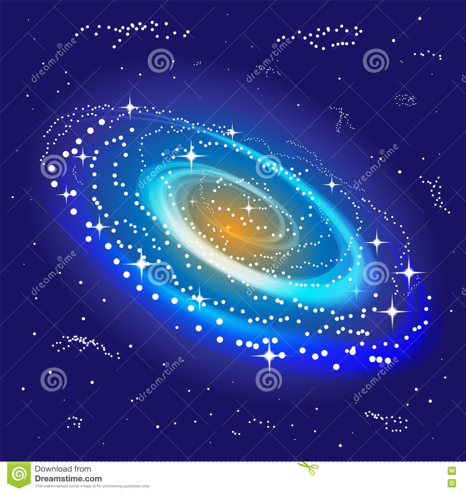 发光在中心的旋涡星云 得出准备好的星形向量的背景下载 适用于纺织品,织品,包装和网络设计