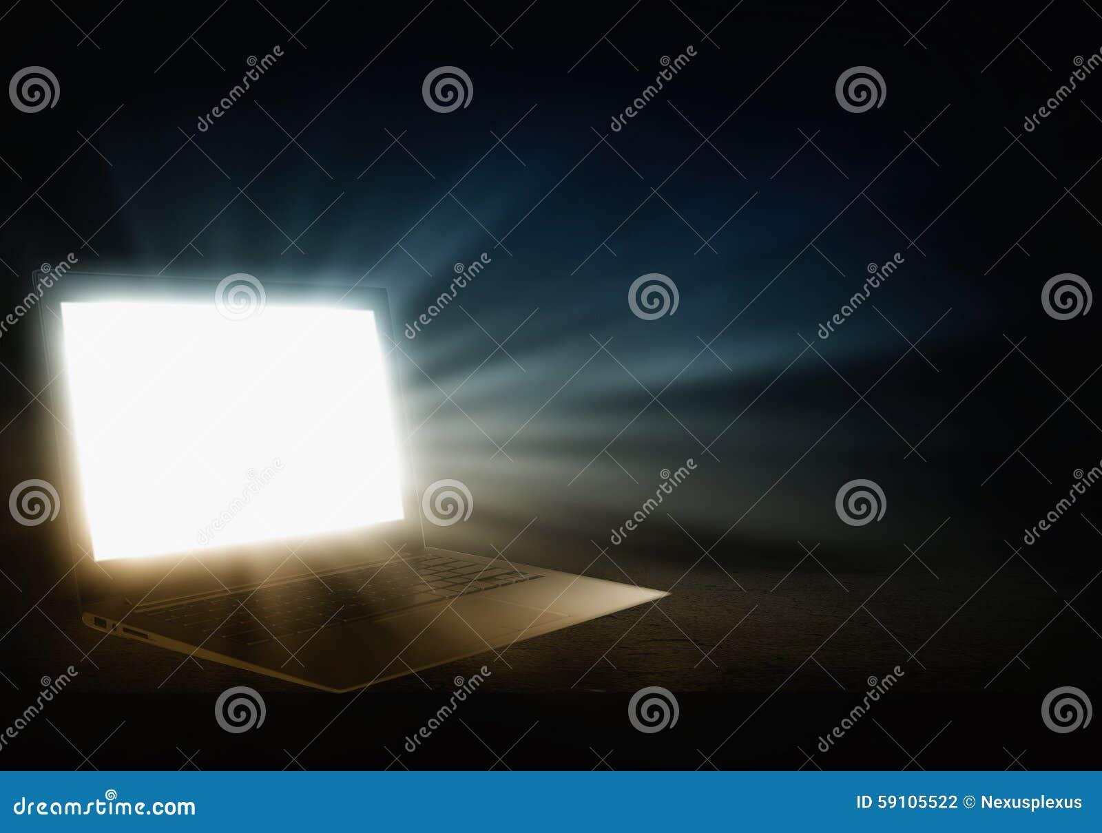 发光的膝上型计算机
