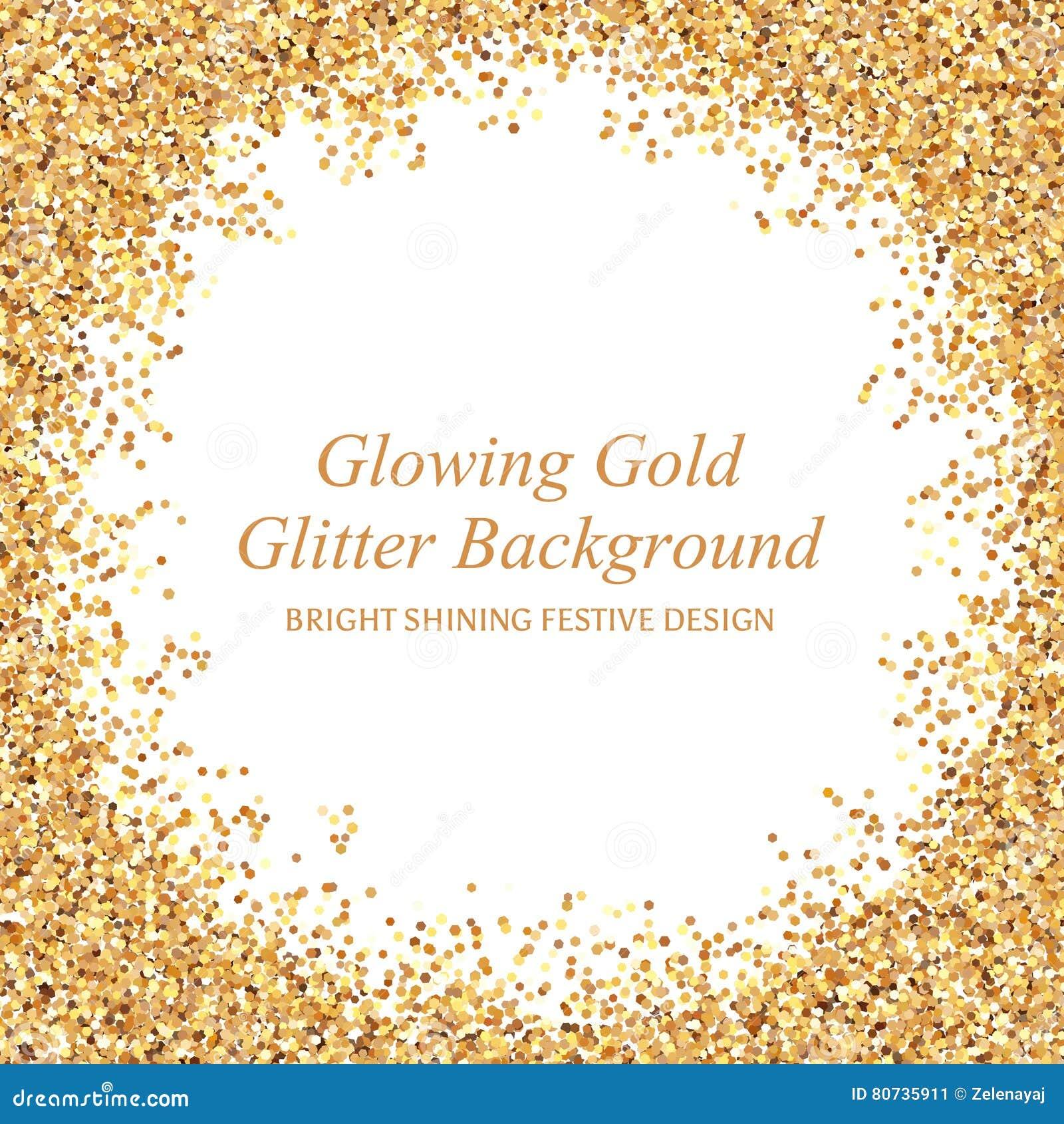发光的金子闪烁传染媒介例证