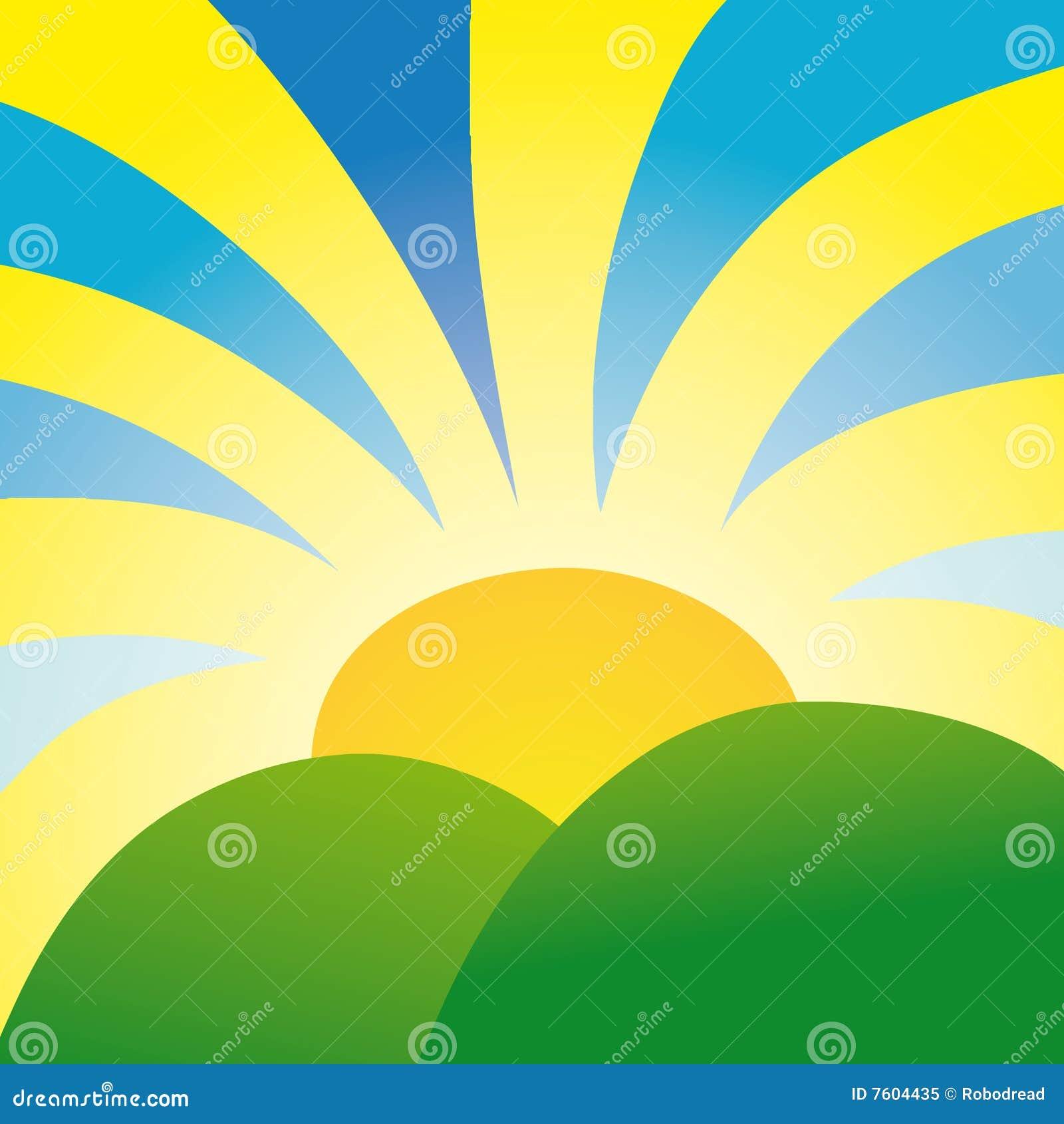 发出光线阳光向量