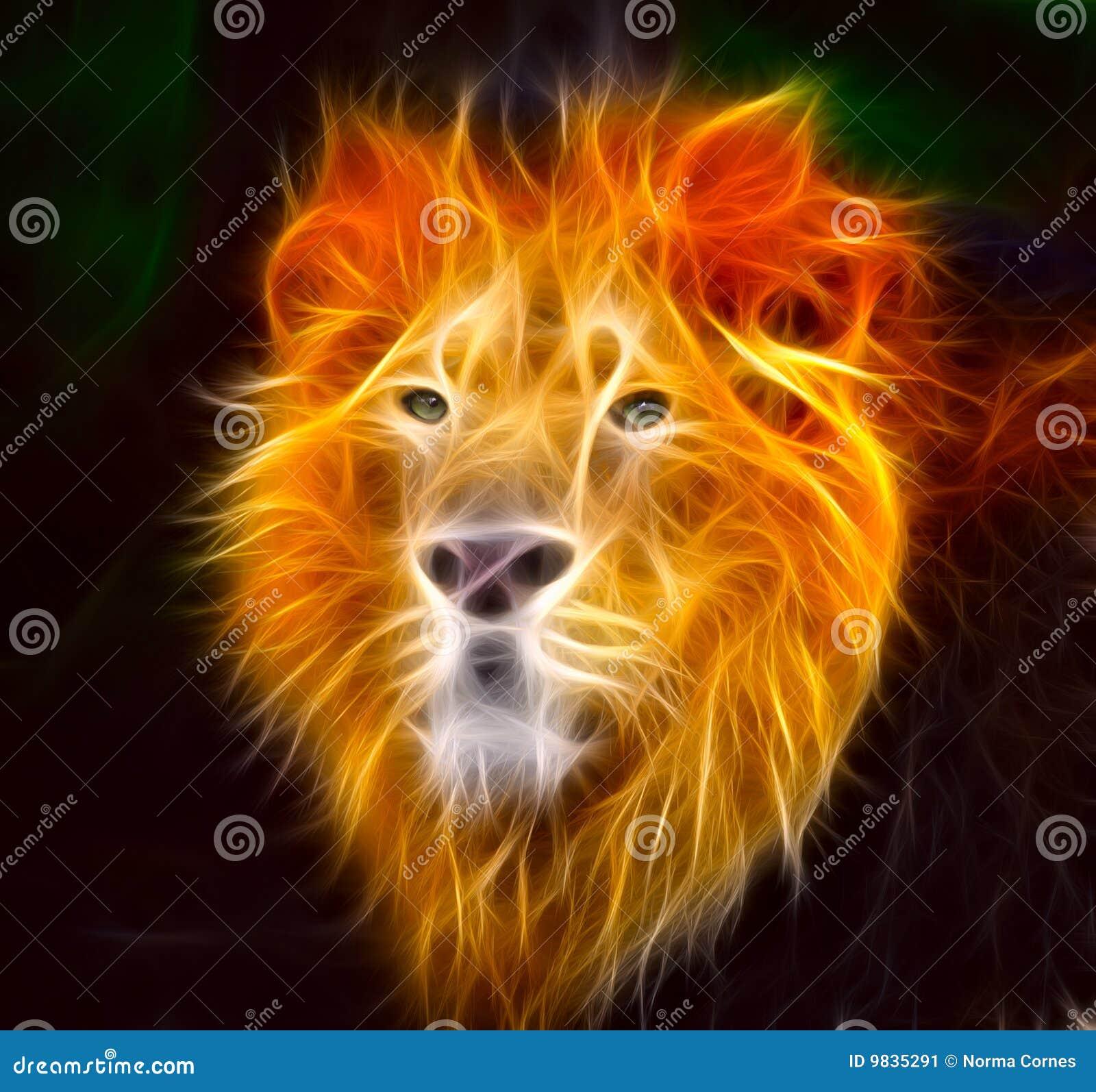 发火焰狮子