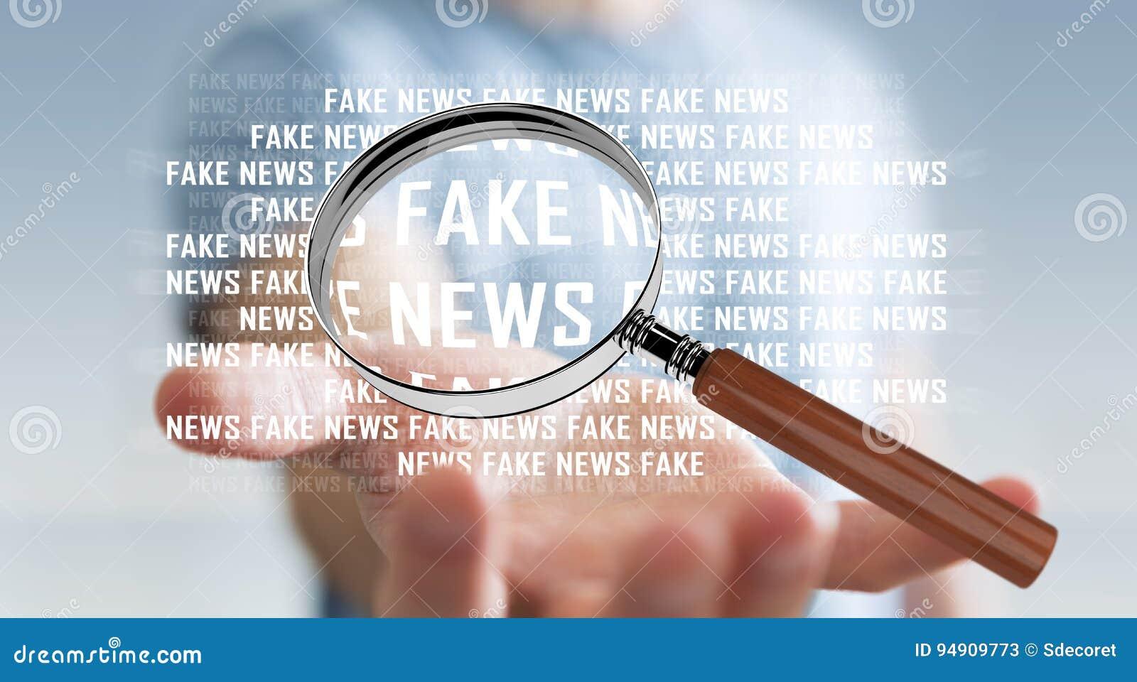 发现假新闻信息3D翻译的商人