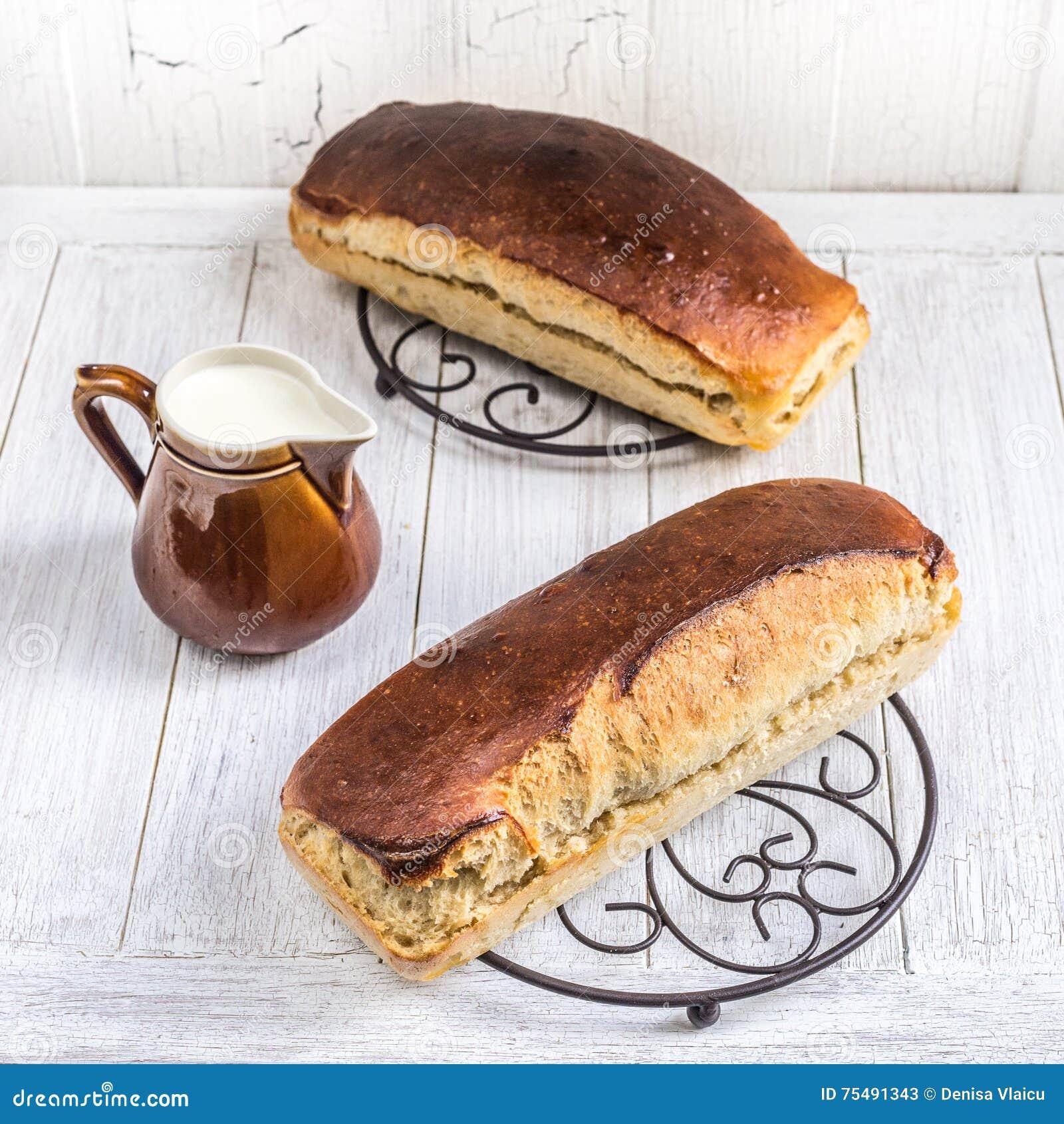 发酵母牛奶面包