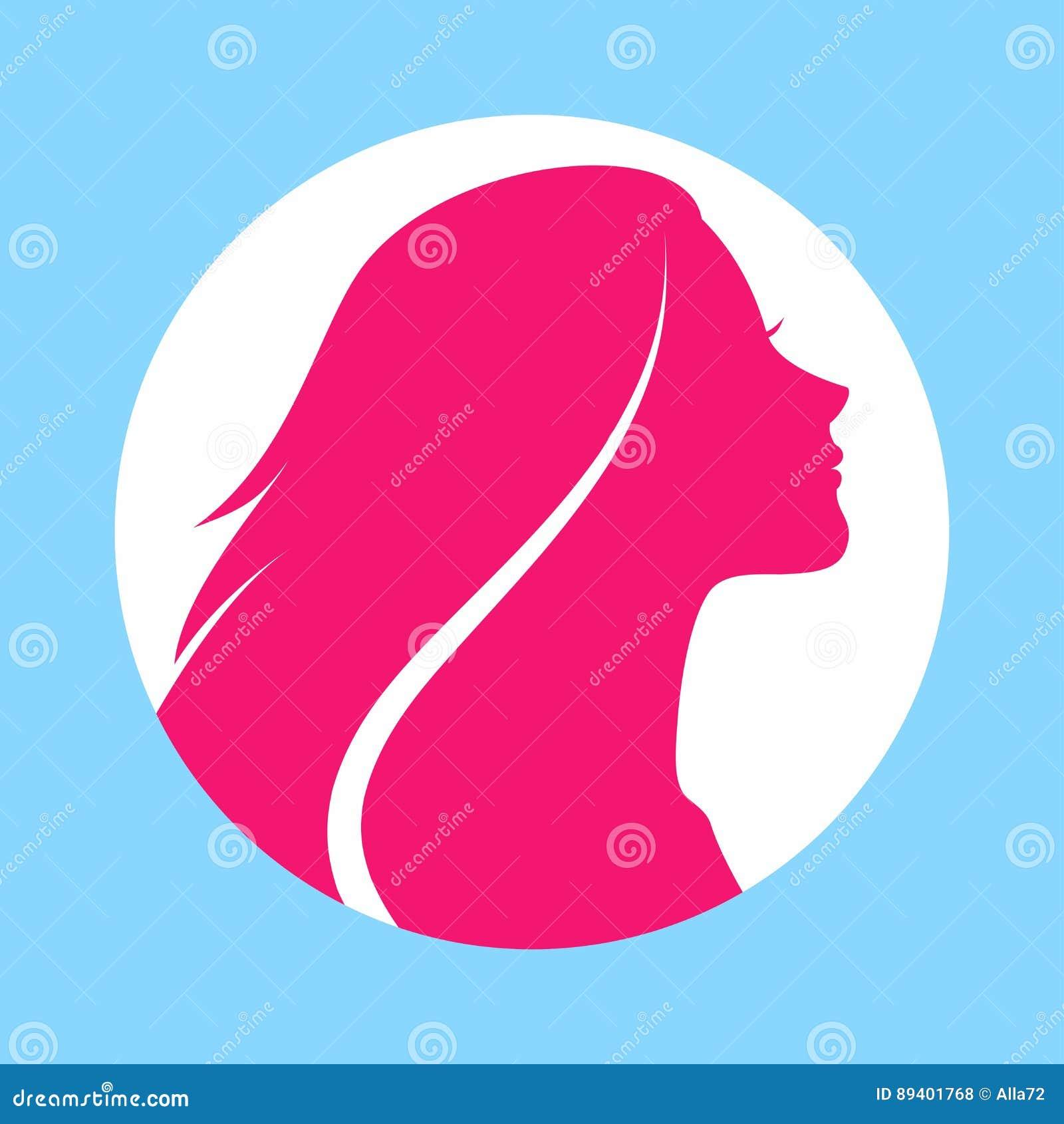 头发长的妇女 也corel凹道例证向量 美容院飞行物或横幅的时髦的设计 女孩剪影 化妆用品 beauvoir