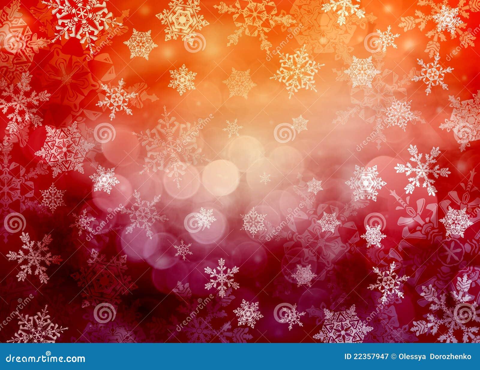 变化的背景圣诞节红色雪花