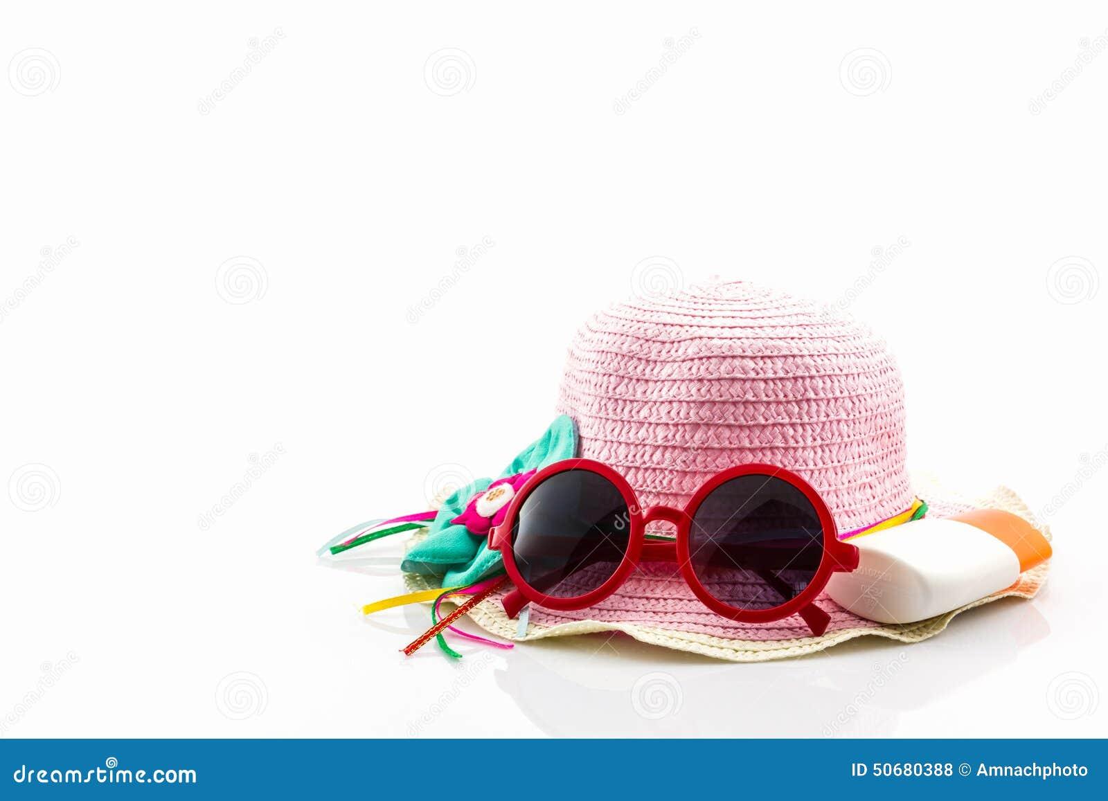 Download 变粉红色有身体化妆水和红色太阳镜的被编织的帽子 库存照片. 图片 包括有 种族, 保护, 女孩, 查出, 皮肤 - 50680388