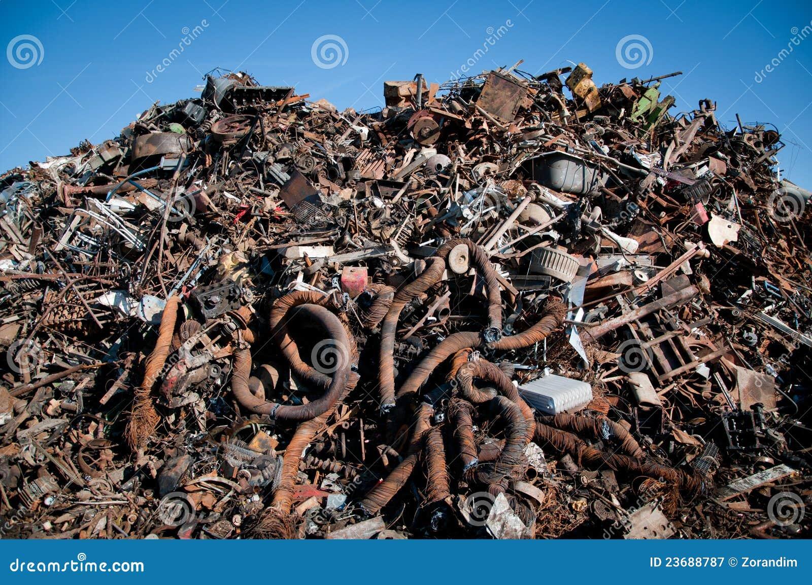 变紧密的铁金属回收报废