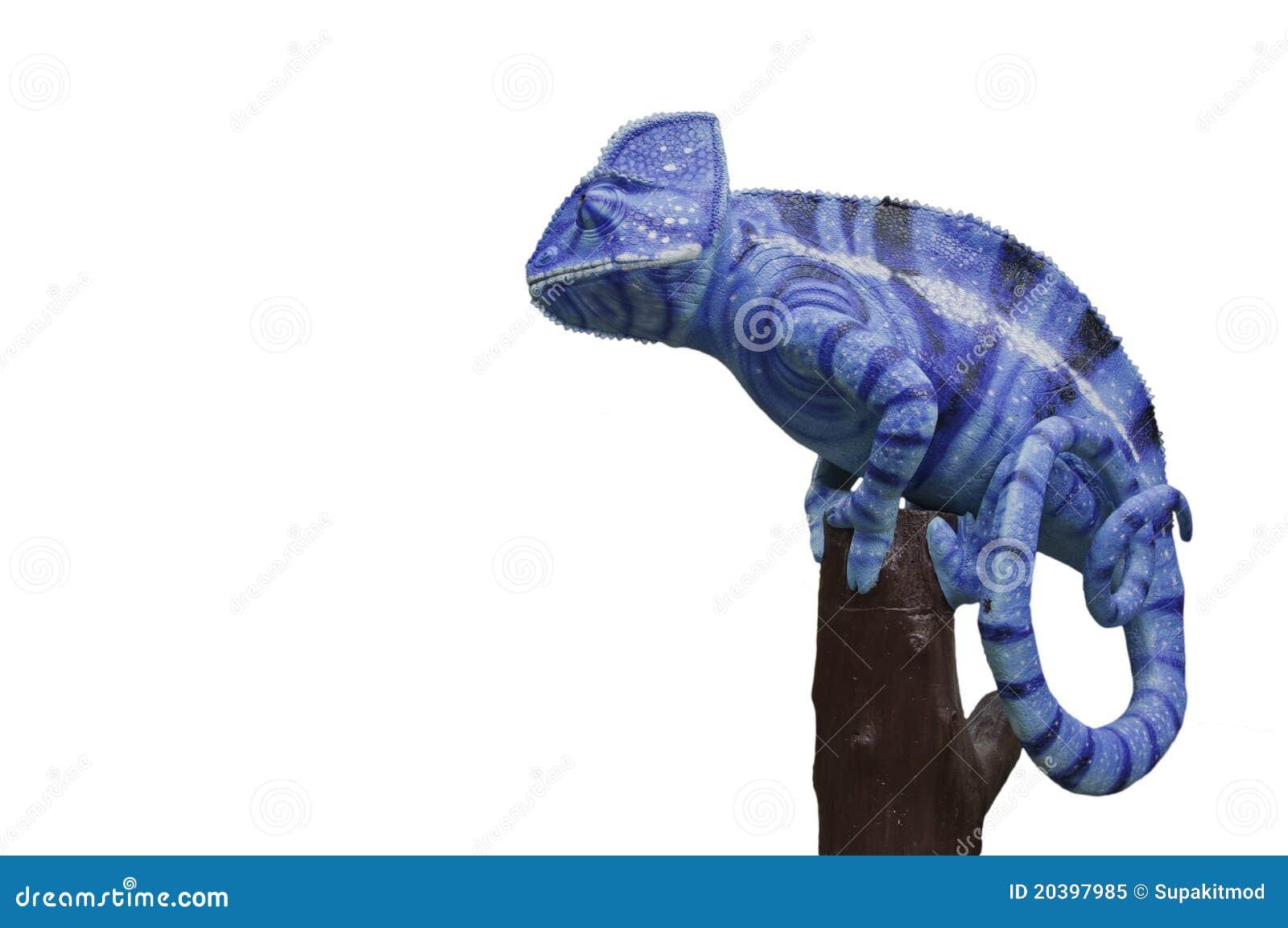 变色蜥蜴雕象