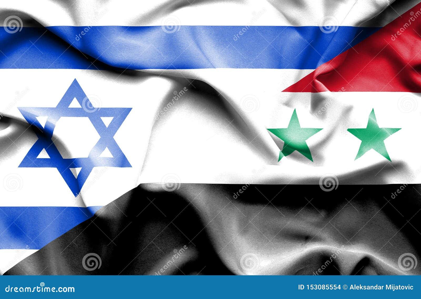 叙利亚和以色列的挥动的旗子
