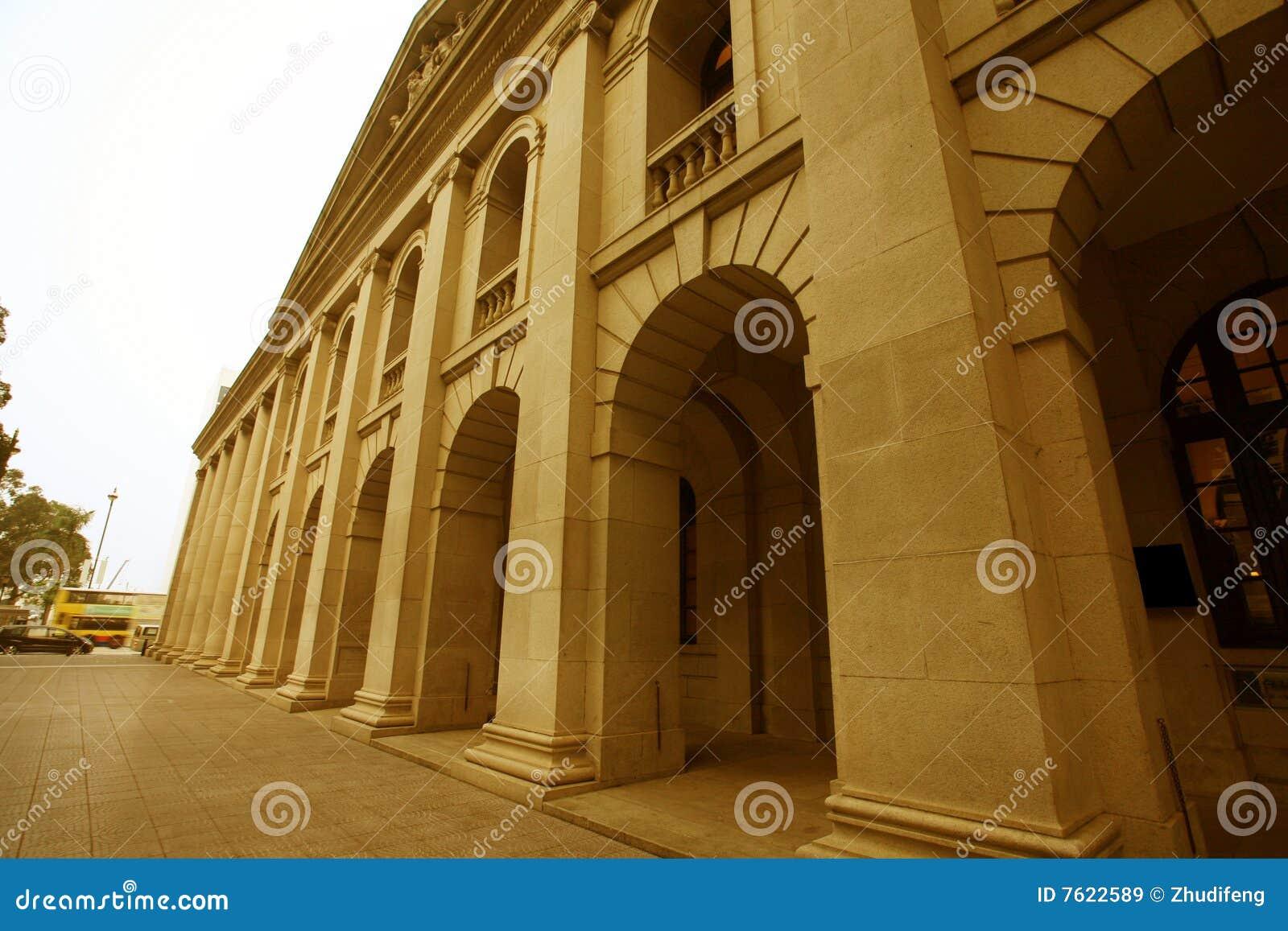 古典接近的柱子